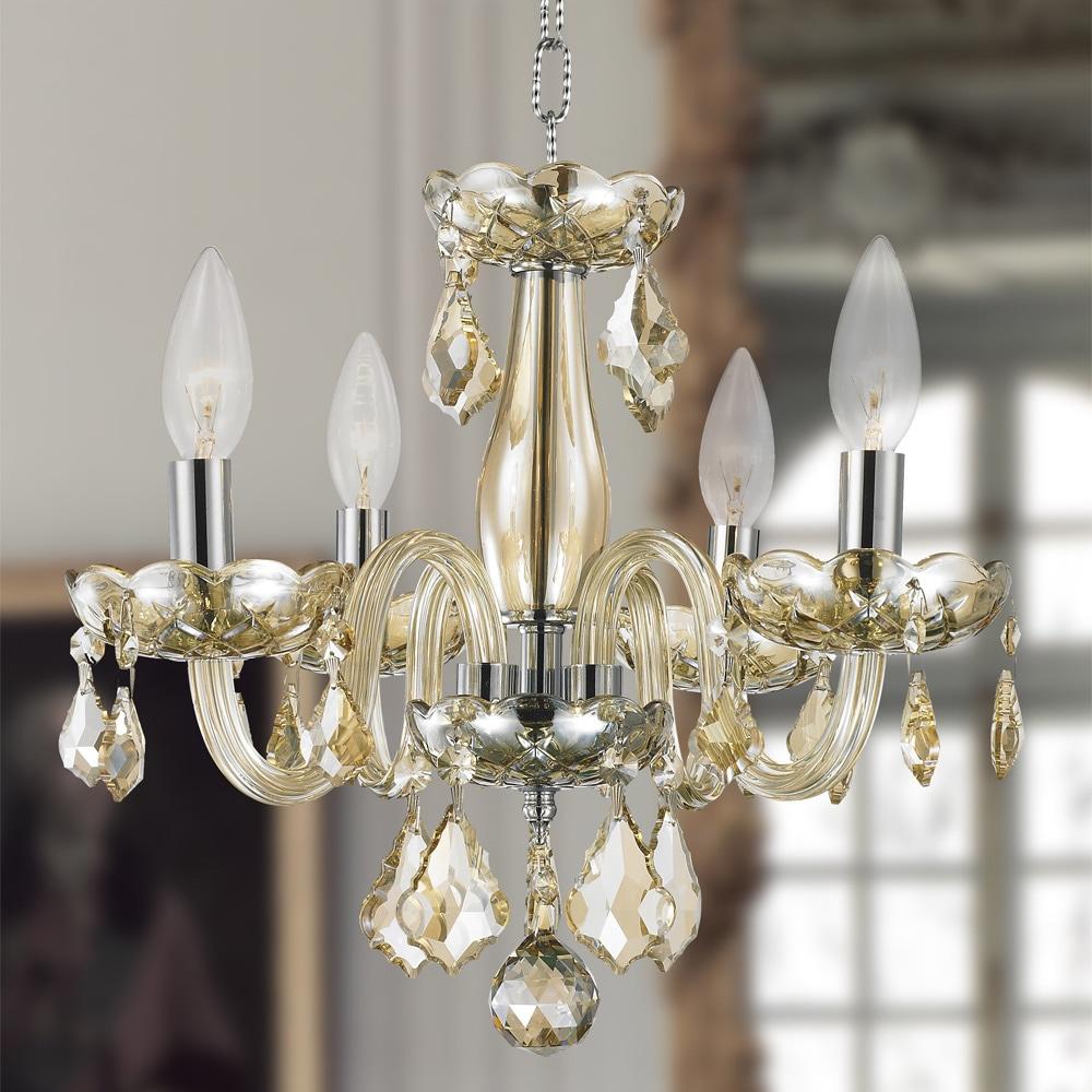 Kids room chandelier metro candelabra 4 light full lead teak golden crystal chrome finish chandelier champagne amber