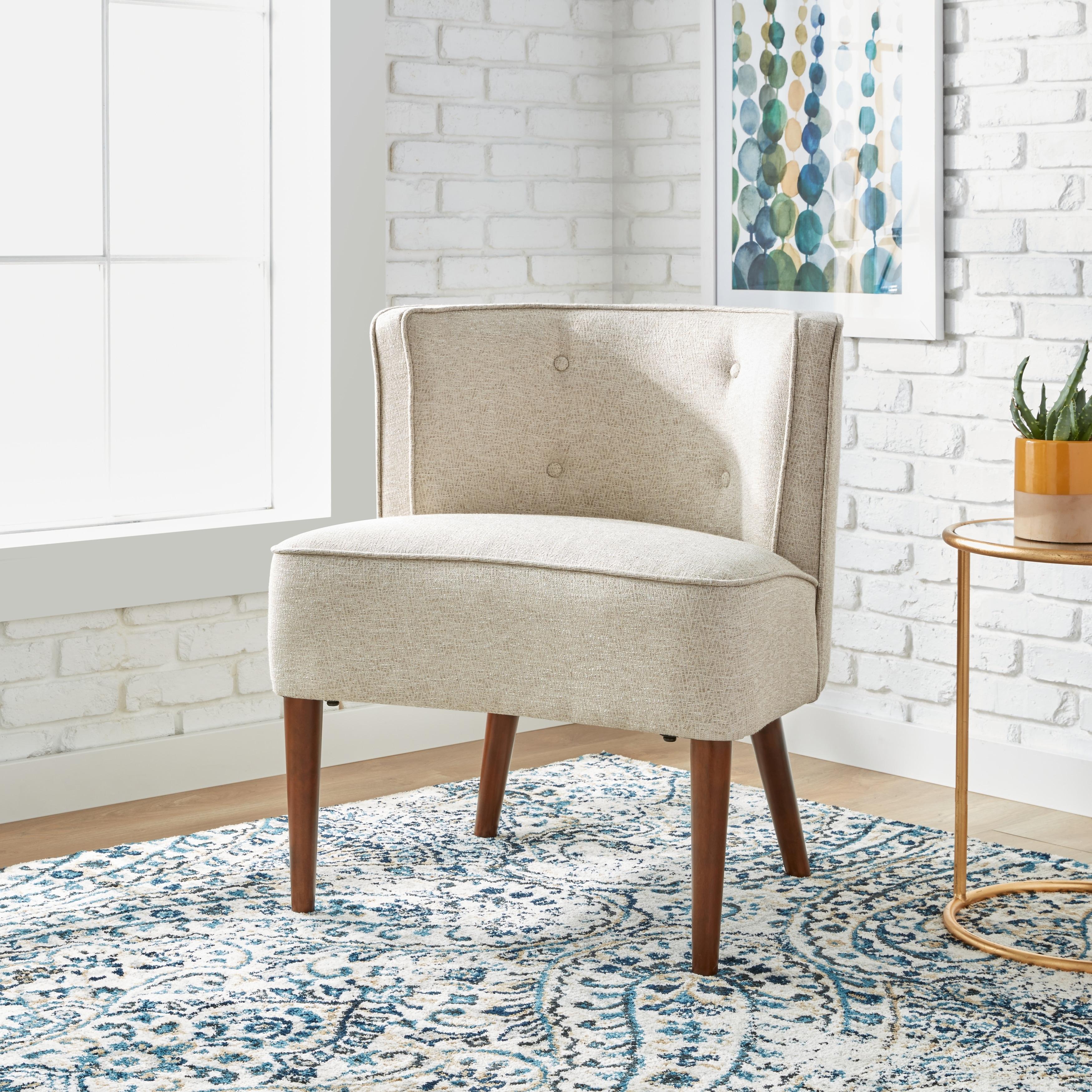 Shop Carson Carrington Sierra Off White Accent Chair Free Shipping