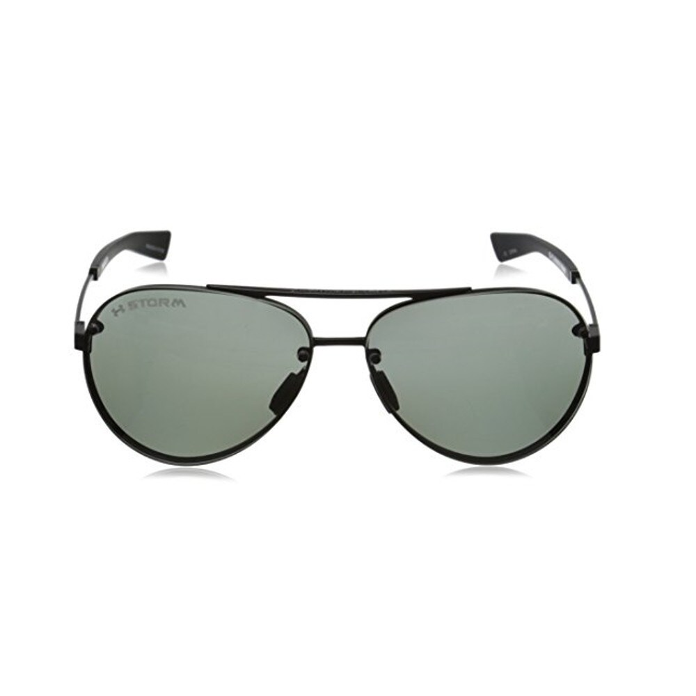 8153d4be1f Shop Under Armour Double Down Satin Black Storm Polarized Sunglassses -  Free Shipping Today - Overstock.com - 10116411