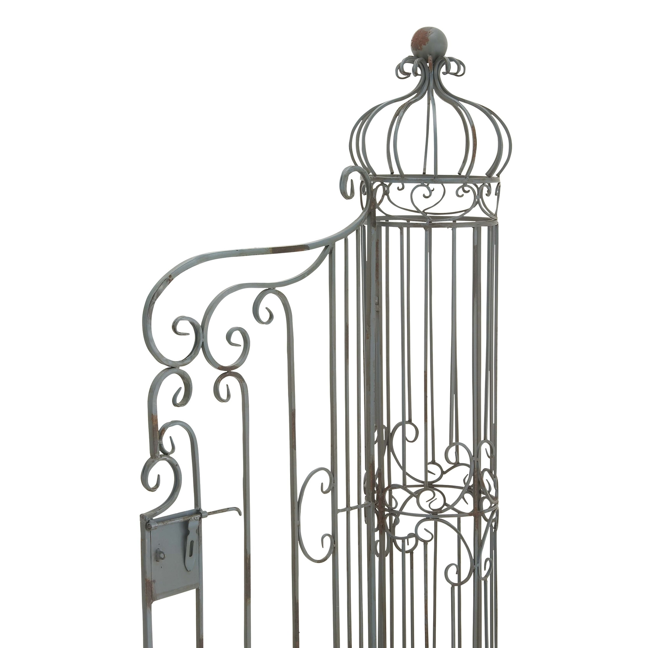 Charmant Shop 62u201d X 67u201d Traditional Metal Garden Gate W/ Latch And Ornate Scrollwork  By Studio 350   On Sale   Free Shipping Today   Overstock.com   10116582