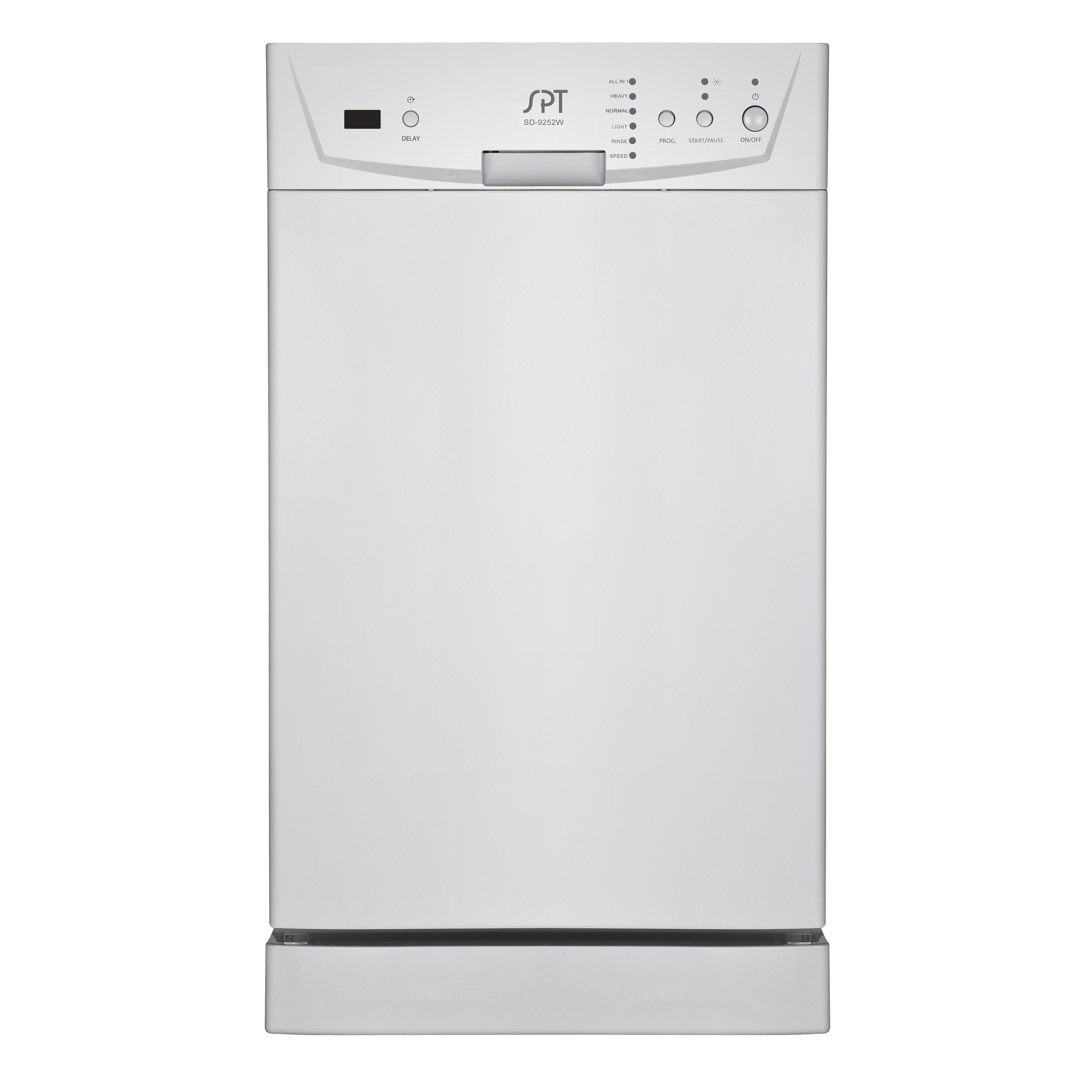 SPT Energy Star White 18 Inch Built In Dishwasher   Free Shipping Today    Overstock   17256944