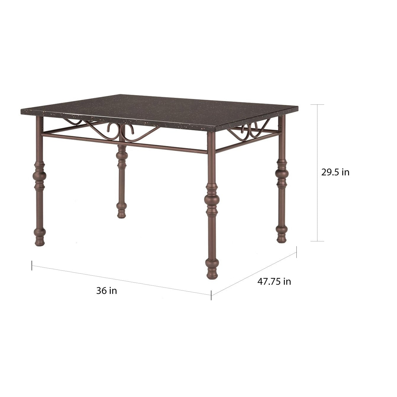 Zella Bistro Faux Marble Top Metal Scroll Dining Table by iNSPIRE Q Classic  - Free Shipping Today - Overstock.com - 17256972