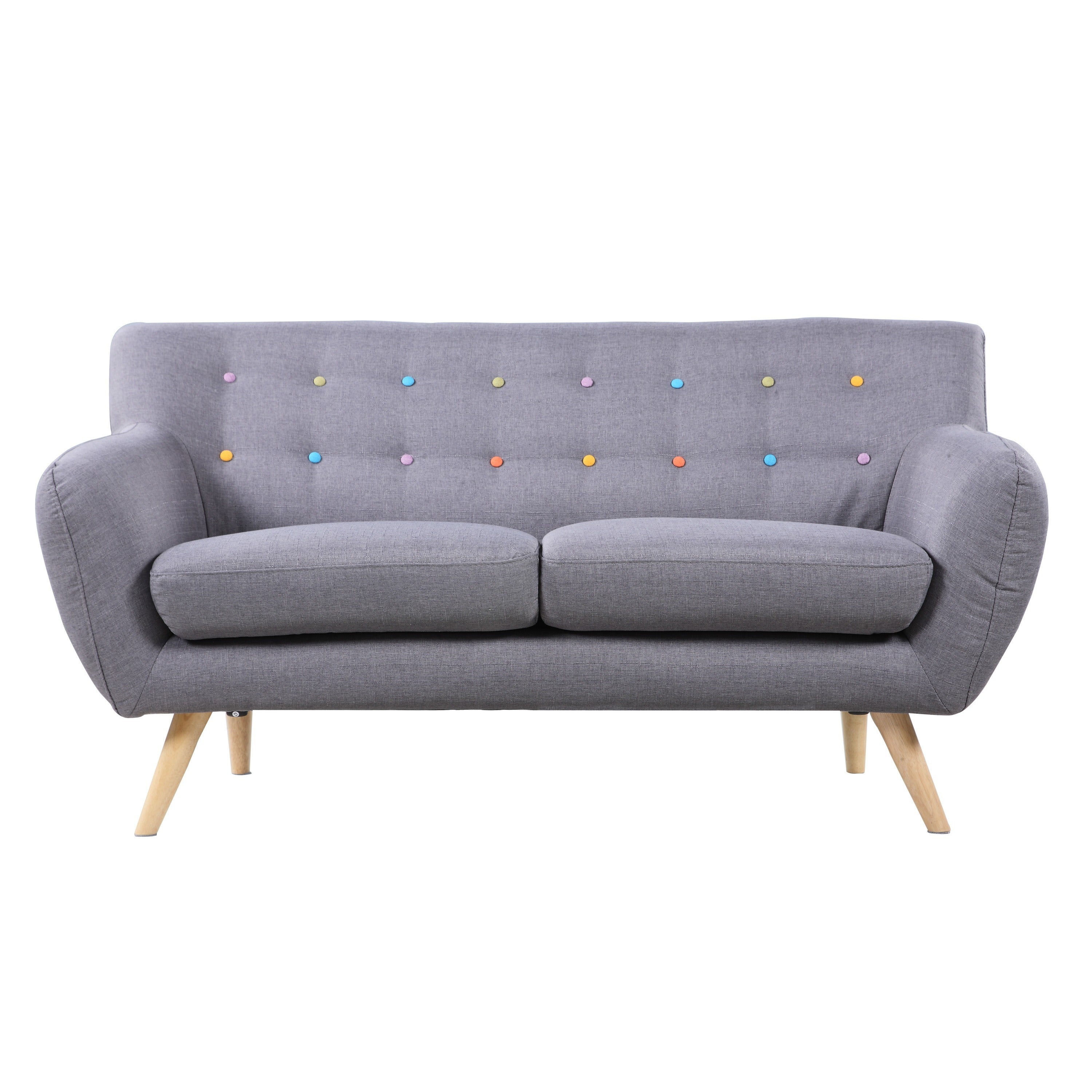 Mid Century Modern Love Seat Living Room Furniture Assorted  # Muebles Lady Lucky