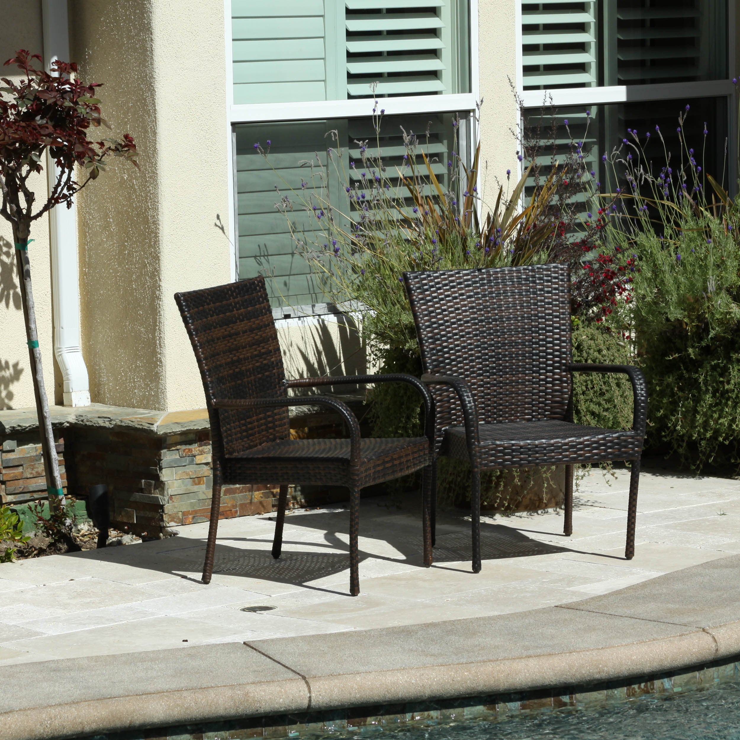 Blakely Outdoor 7 Piece Wicker Dining Set By Christopher Knight Home   Free  Shipping Today   Overstock.com   17257896