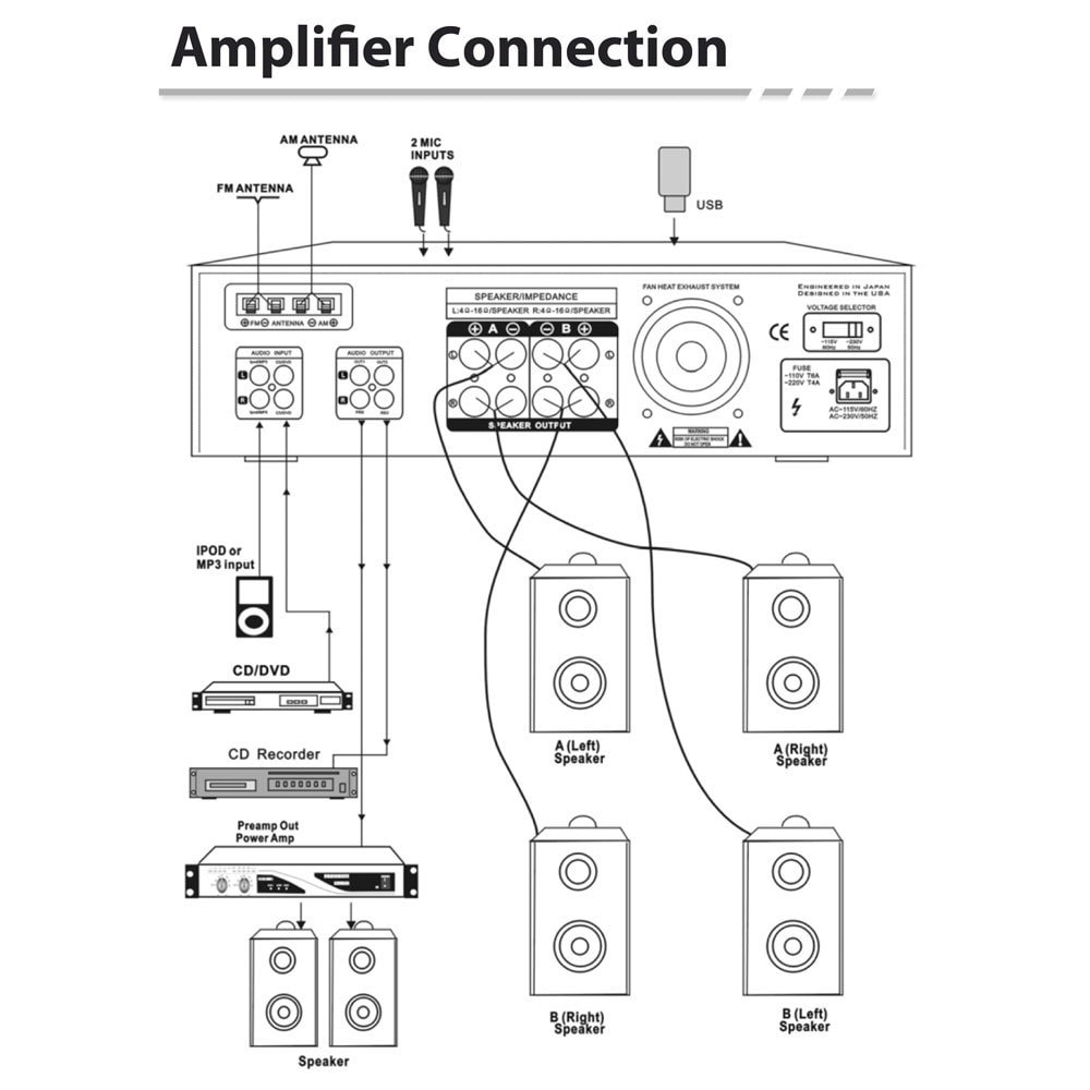 Pyle Amp Wiring Diagram Books Of Amplifier 40w Diagrams Schematics Rh Enr Green Com 6 Channel Marine