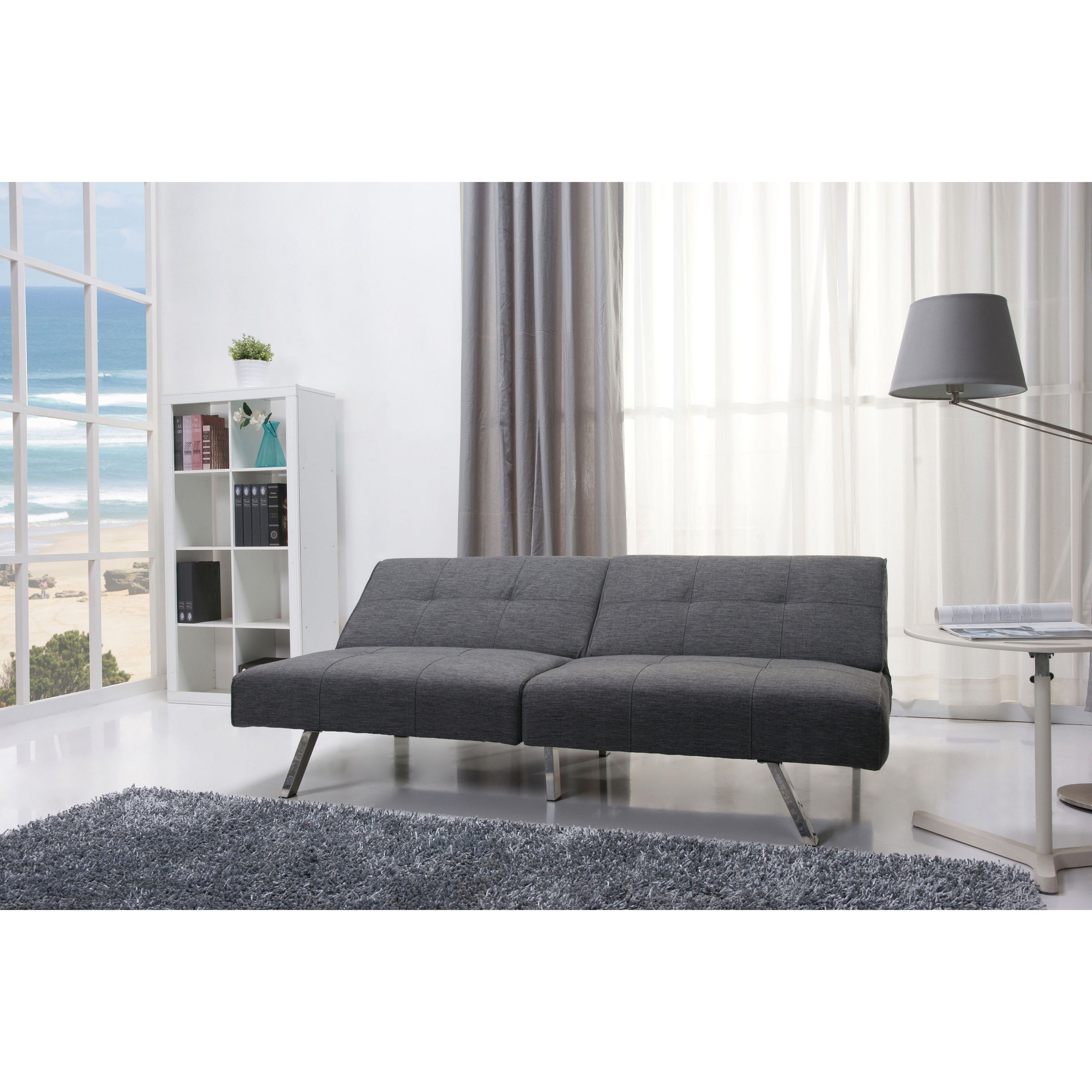 Victorville Grey Foldable Futon Sofa Bed Free Shipping Today