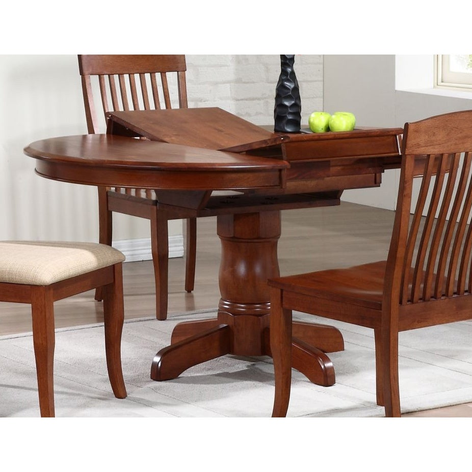 Iconic Furniture Cinnamon Company 42 Inch Round Dining Table   Chestnut    Free Shipping Today   Overstock   17262010