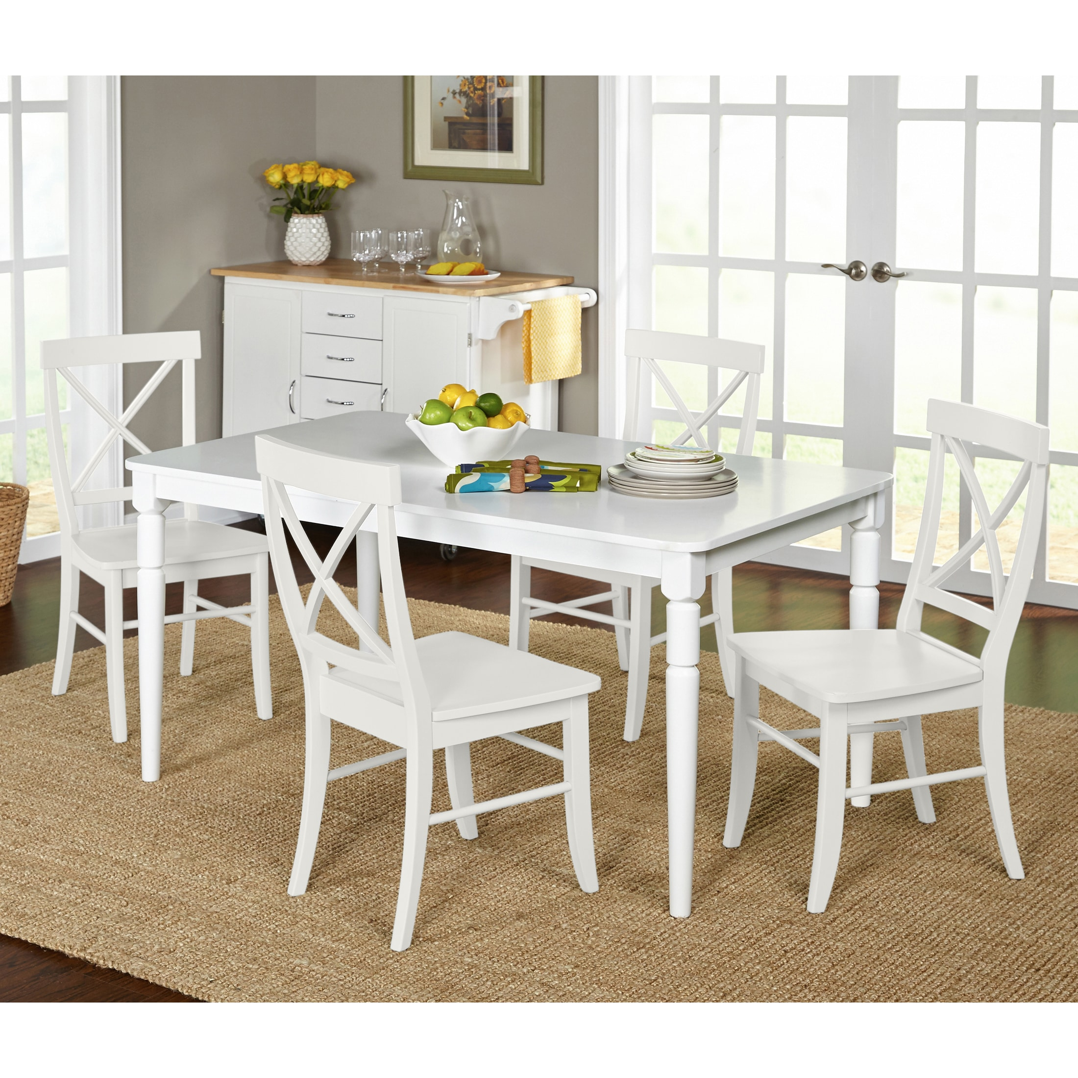 Genial Shop Simple Living 5 Piece Albury Cross Back Dining Set   On Sale   Free  Shipping Today   Overstock.com   10124355