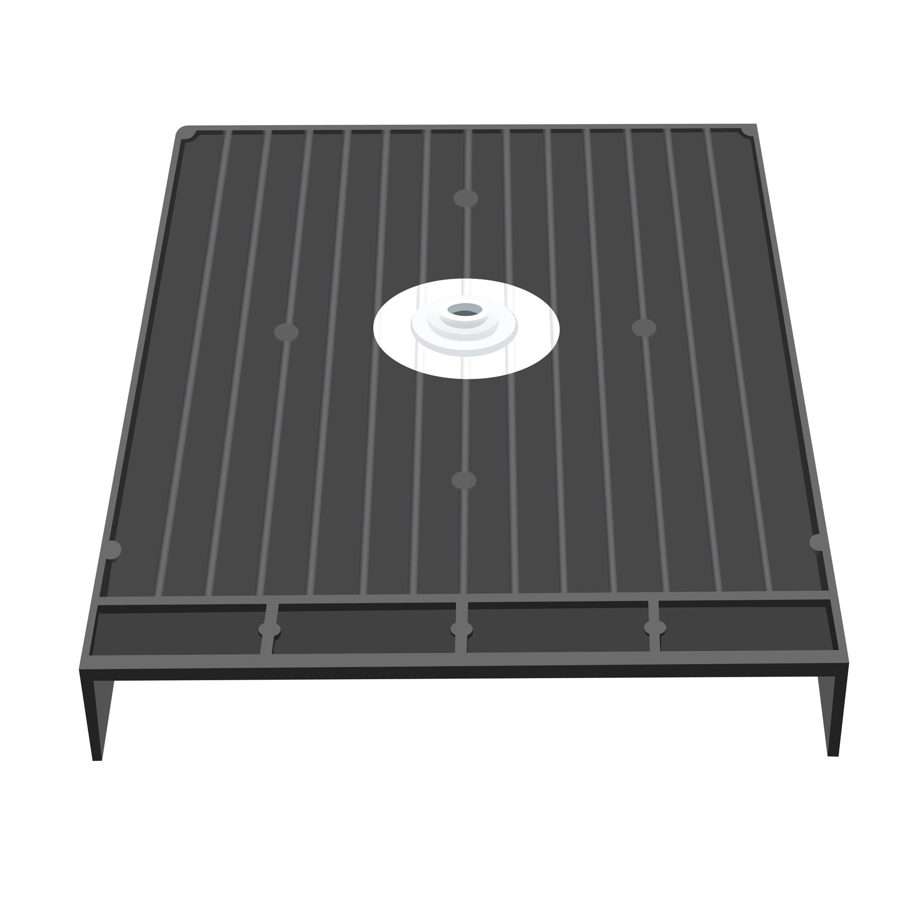 Shop Redi Base 46 X 38 Barrier Free Shower Pan With Center Drain