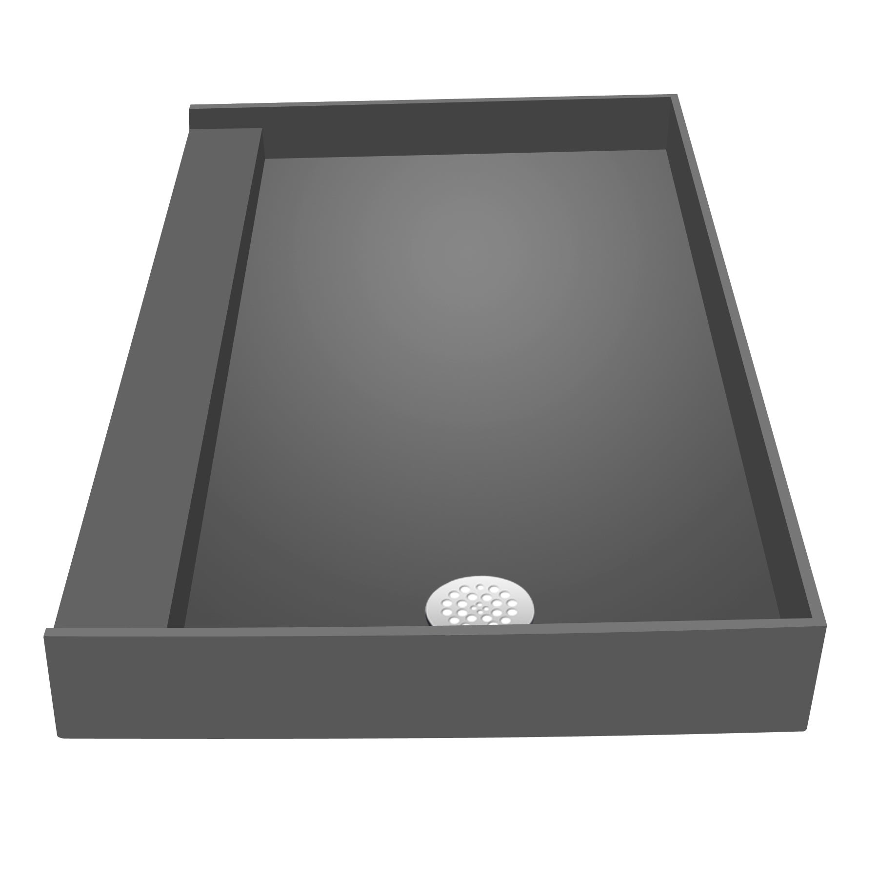 Shop Redi Base 30 X 48 Single Curb Shower Pan With Right Drain   Free  Shipping Today   Overstock.com   10124721