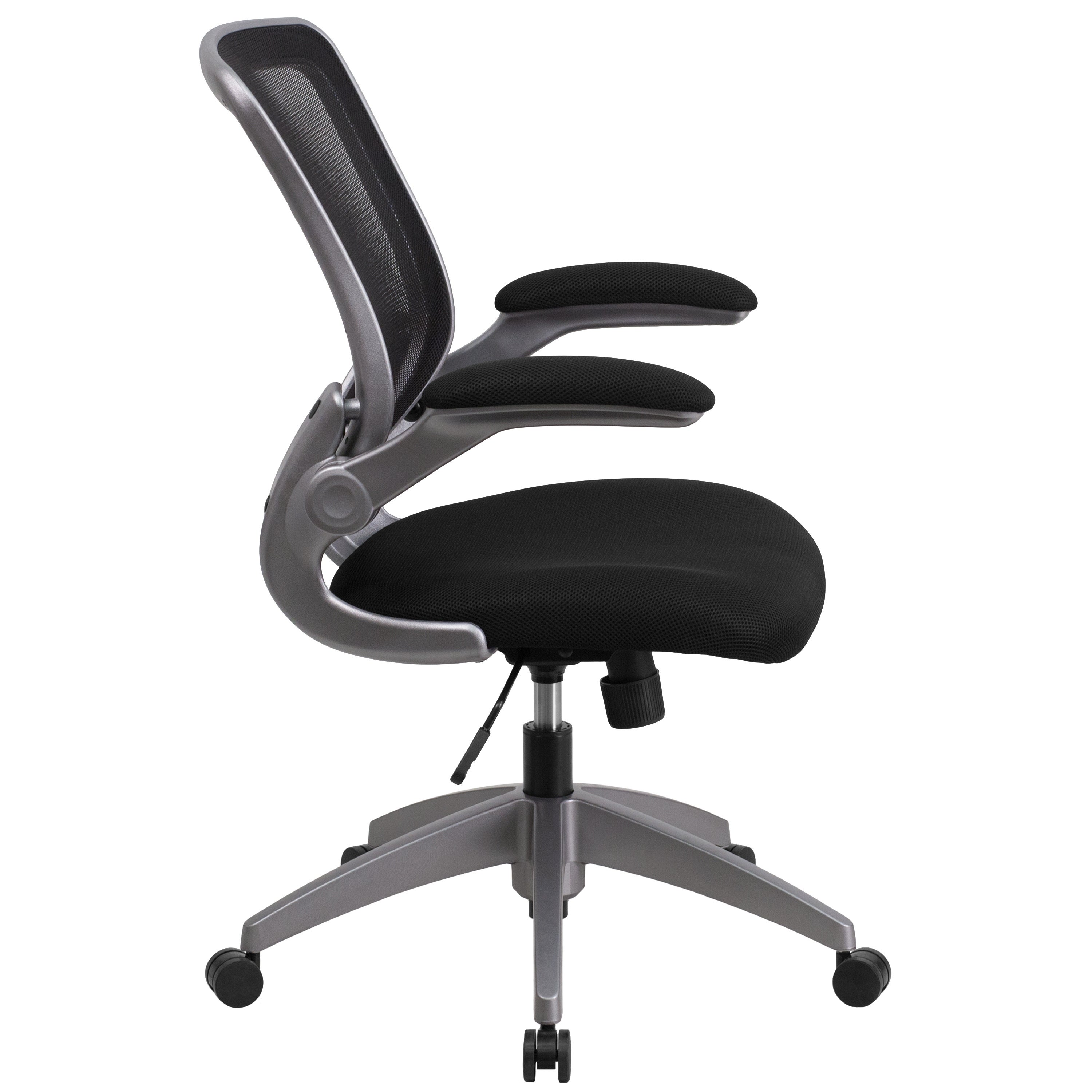 Shop Mid Back Mesh Task Chair With Flip Up Arms Free Shipping
