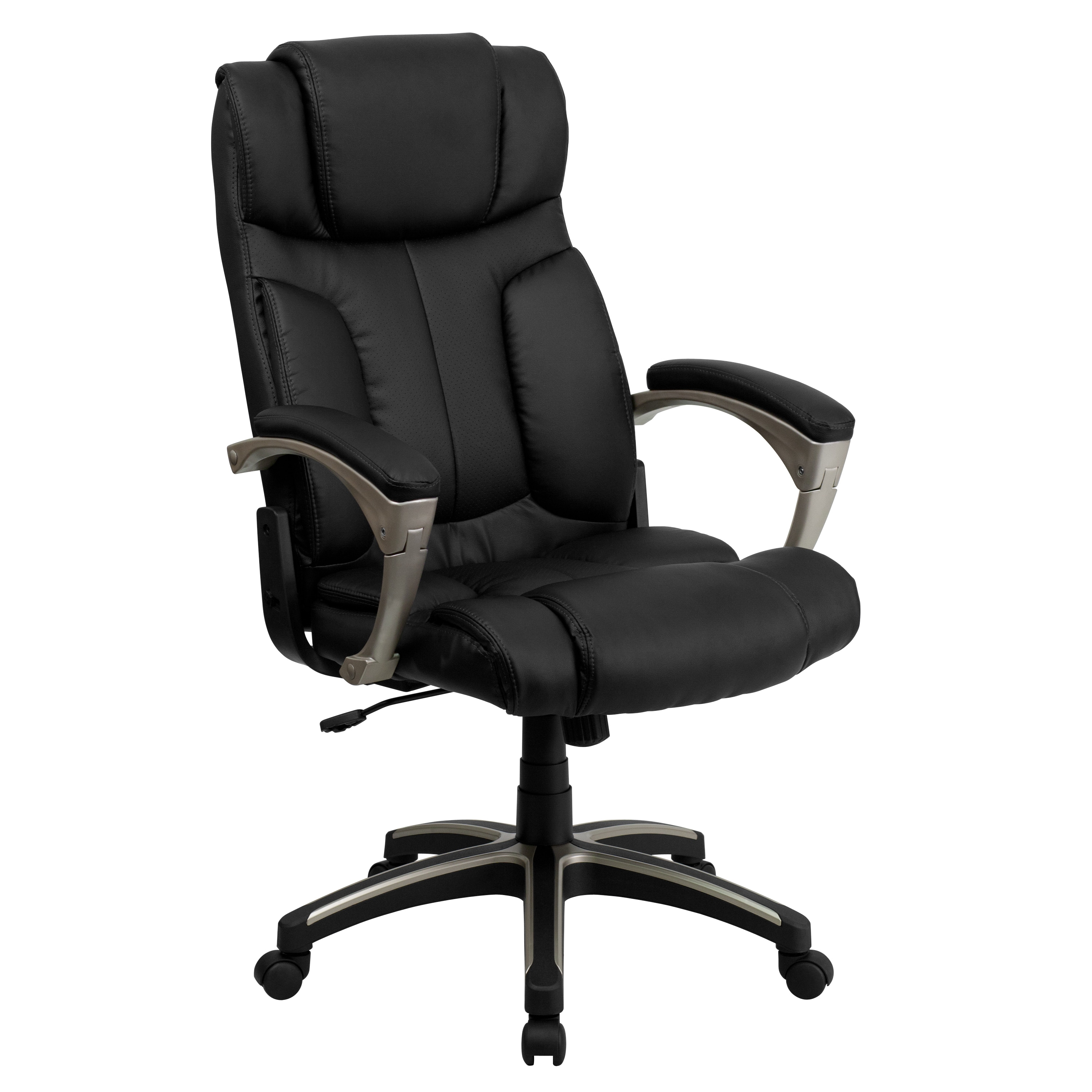 High Back Folding Black Leather Executive fice Chair Free