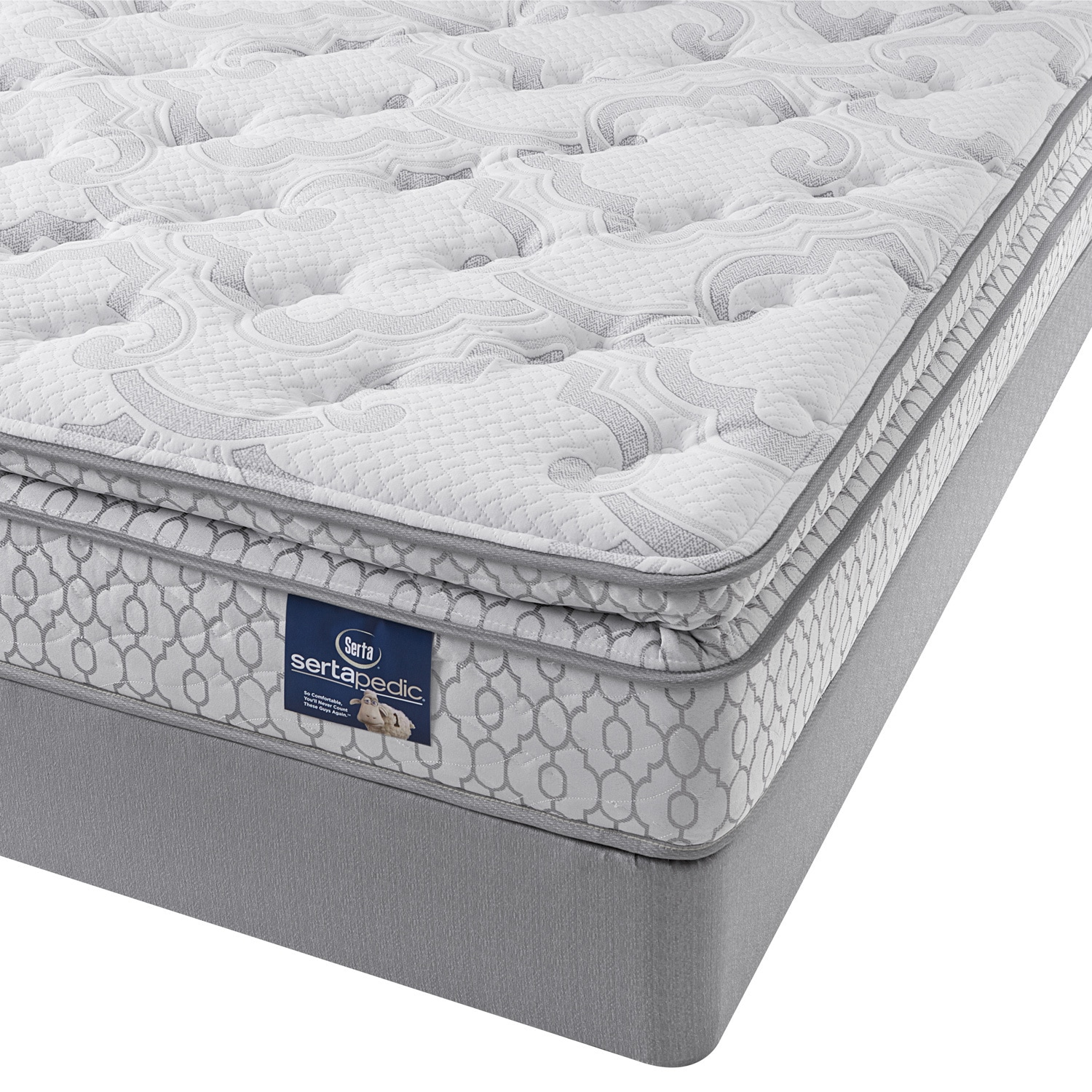 Shop Serta Extravagant Pillow Top Full Size Mattress Set White