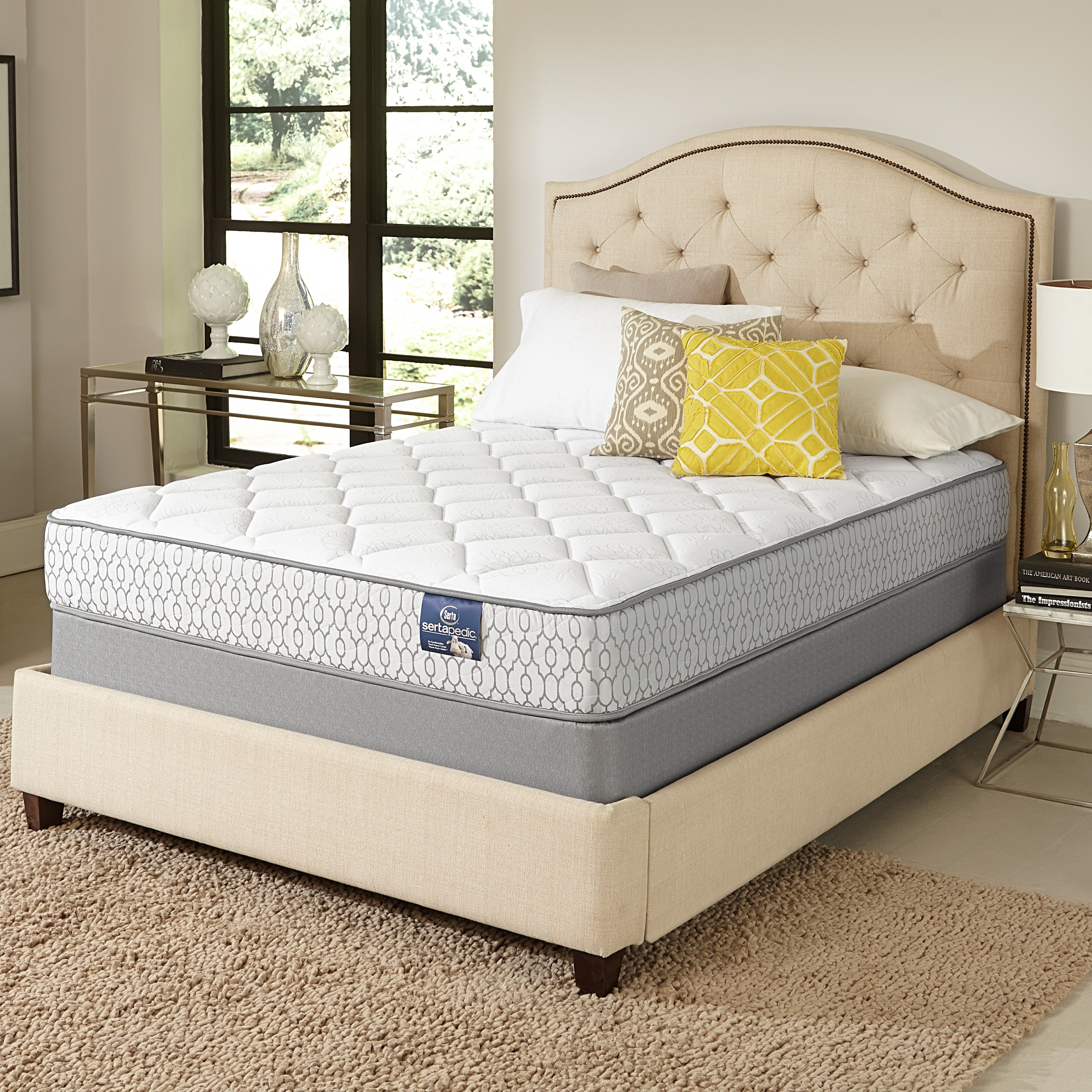 Serta Amazement Plush Full sized Mattress Set Free Shipping