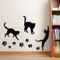 Cats Paw Prints Vinyl Sticker Wall Art