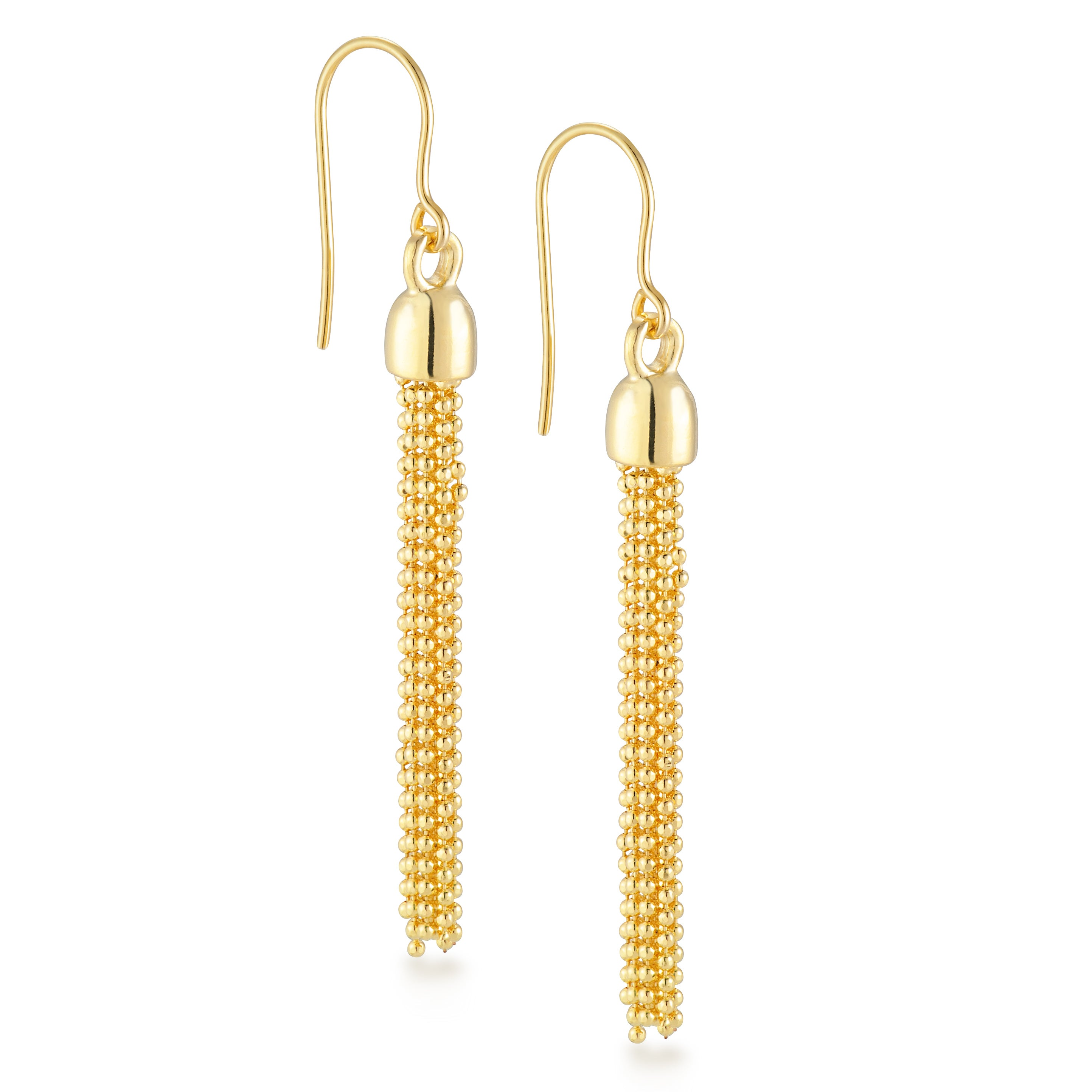 18k Gold Overlay 10 Strand Multi Chain Drop Earrings On Free Shipping Today 10138522
