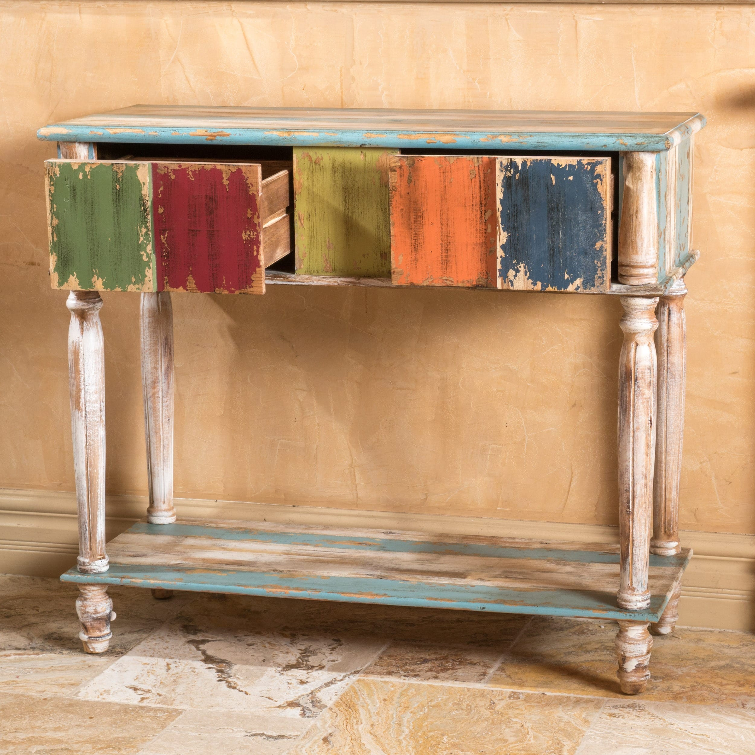 Incroyable Shop Everest 2 Drawer Multi Colored Wood Console Table By Christopher  Knight Home   On Sale   Free Shipping Today   Overstock.com   10138725