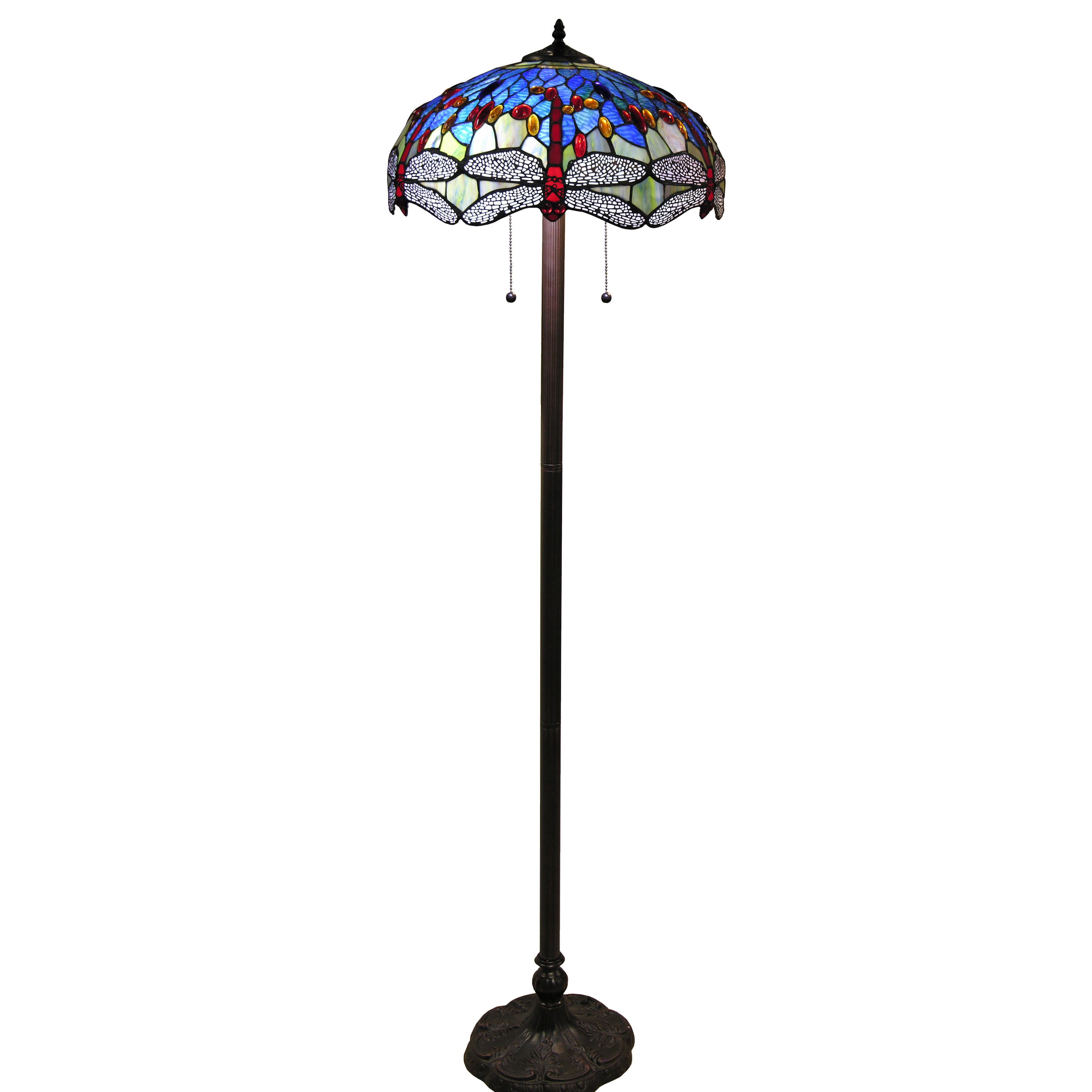 Hailey Tiffany Style 18 Inch Blue Floor Lamp Free Shipping Today 10139125
