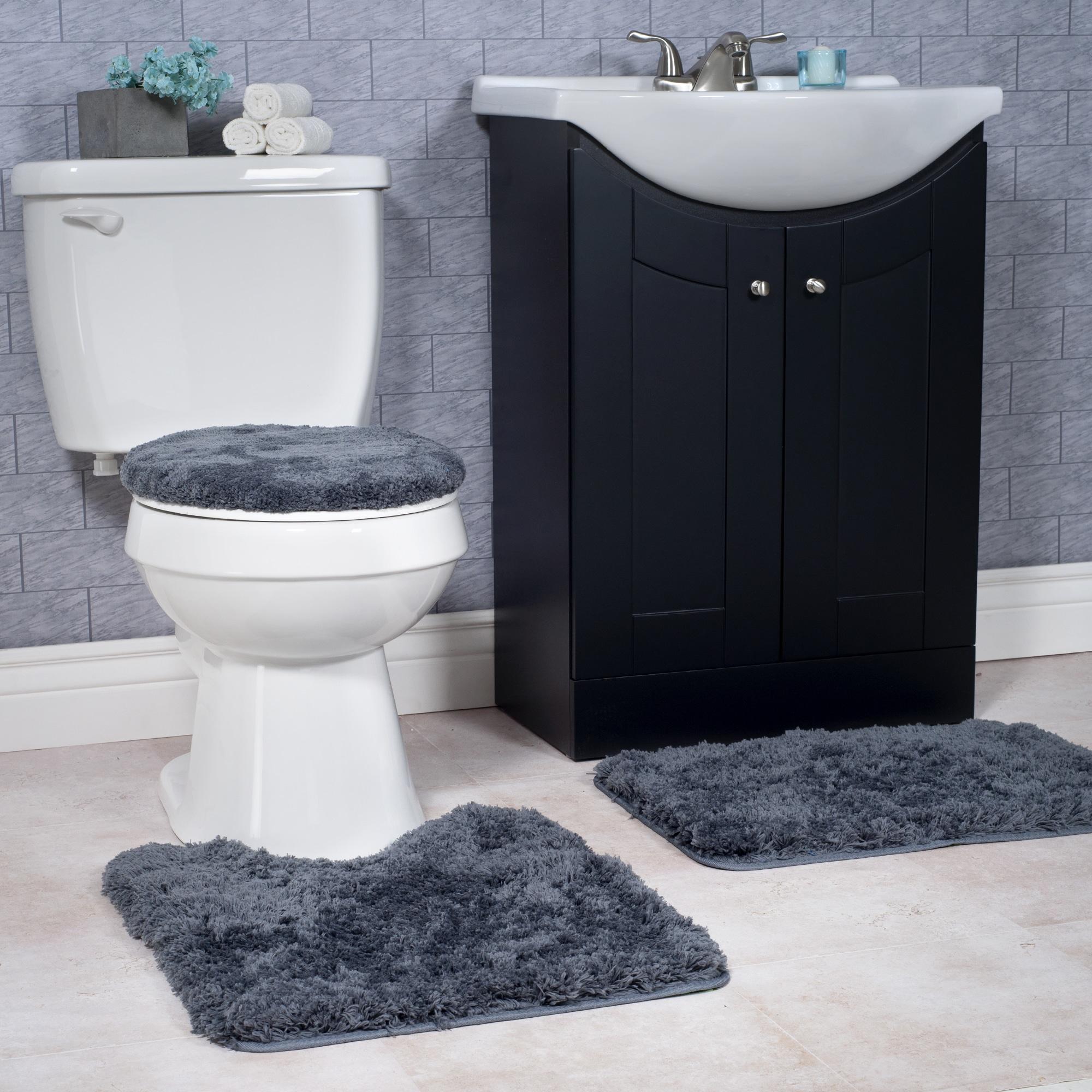 Windsor Home 3-piece Plush Non-slip Bath Rug Set