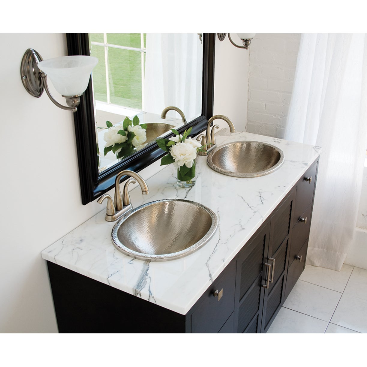 Sinkology Edison 18 5 Dual Mount Oval Bath Sink In Hammered Nickel Free Shipping Today 10148241