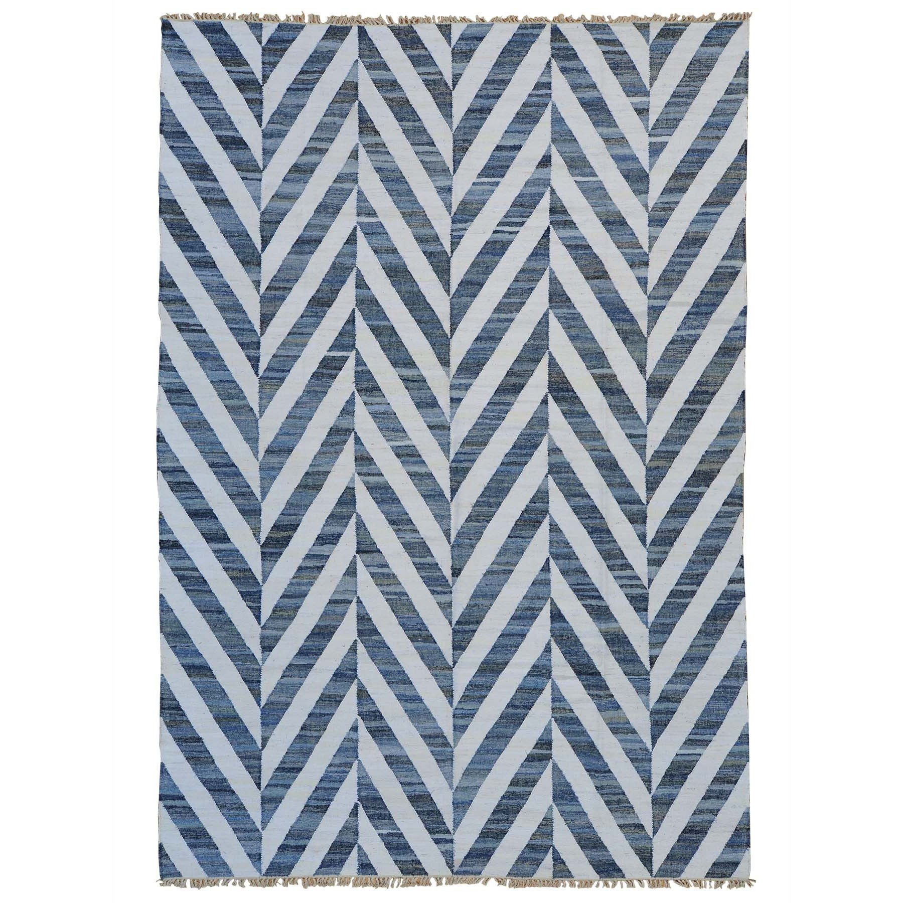 Handmade Flat Weave Denim Jeans Durie Kilim Oriental Rug Multi Color Free Shipping Today Com 10148525