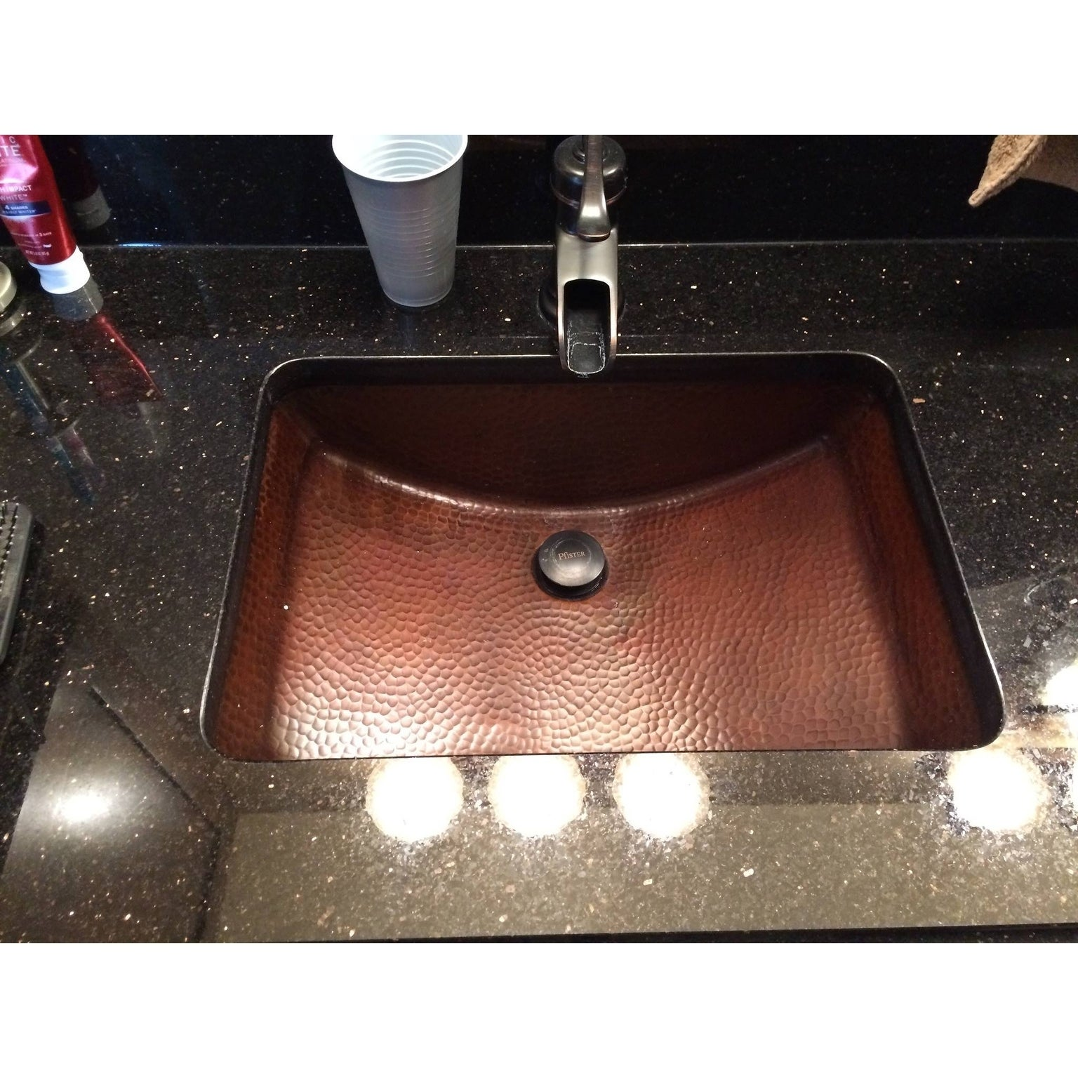 Sinkology Curie 21 Undermount Bath Sink With Overflow In Aged Copper Free Shipping Today 10148692