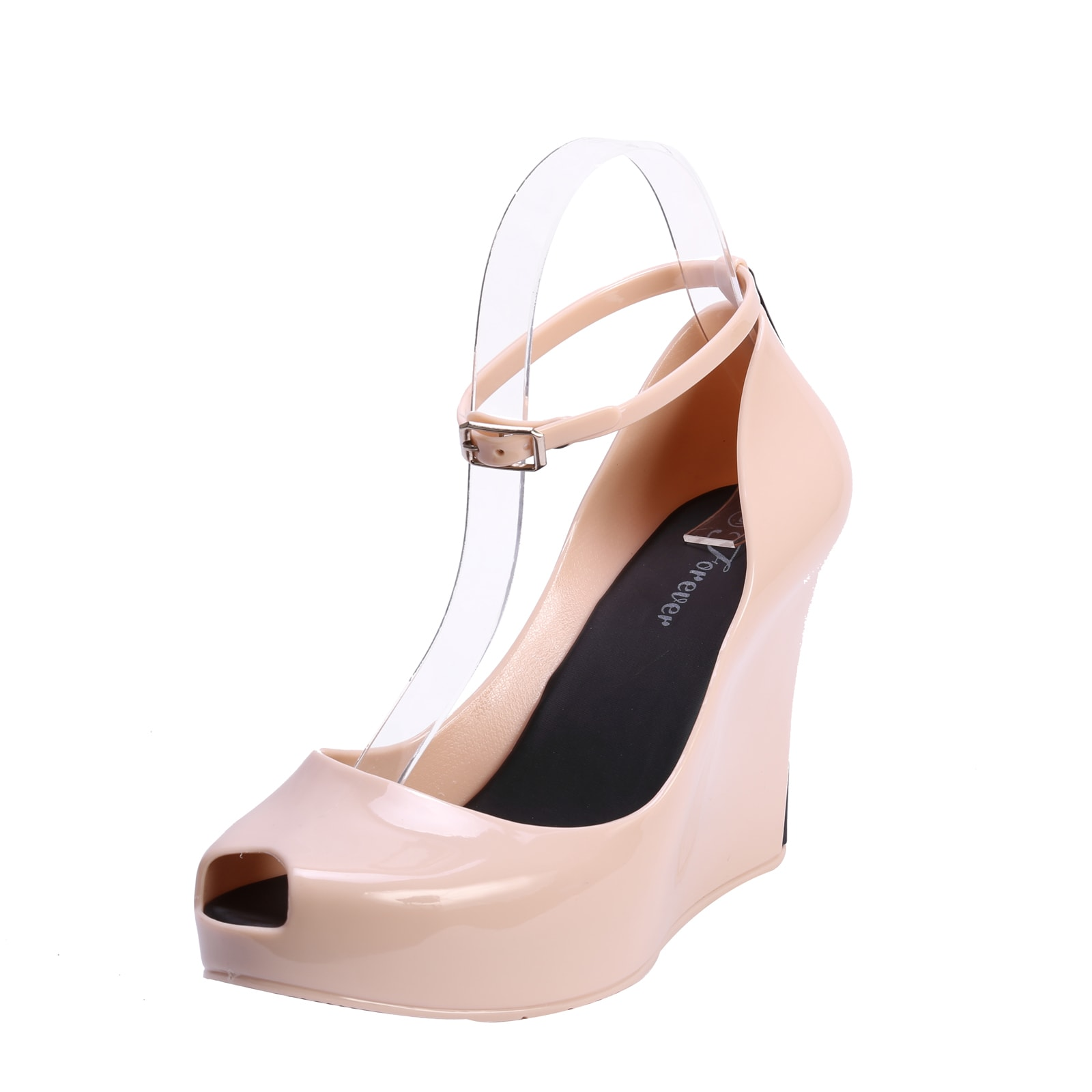 f1272f9bcd9e Shop Coshare Forever Women s Rosemary-86 Jelly PU Basic Low Top Wedge Pumps  - Free Shipping On Orders Over  45 - Overstock - 10149492