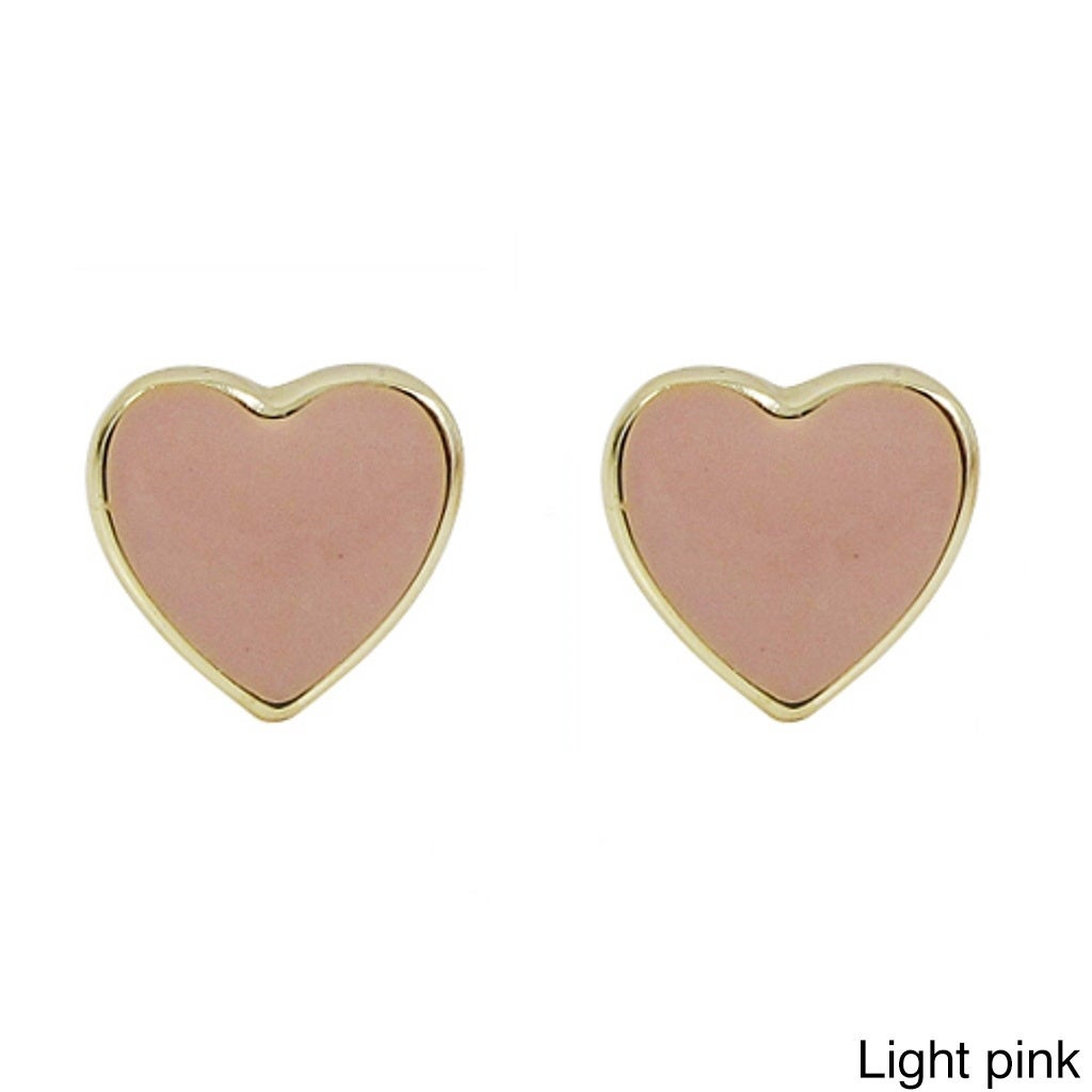cacecfbfd Shop Luxiro Gold Finish Sterling Silver Children's Enamel Heart Stud  Earrings - On Sale - Free Shipping On Orders Over $45 - Overstock - 10150978