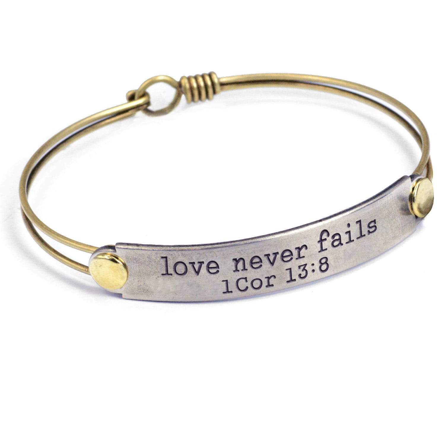 love bangle you to the penny bracelet word brass jewelry bangles i top shelf moon back ts