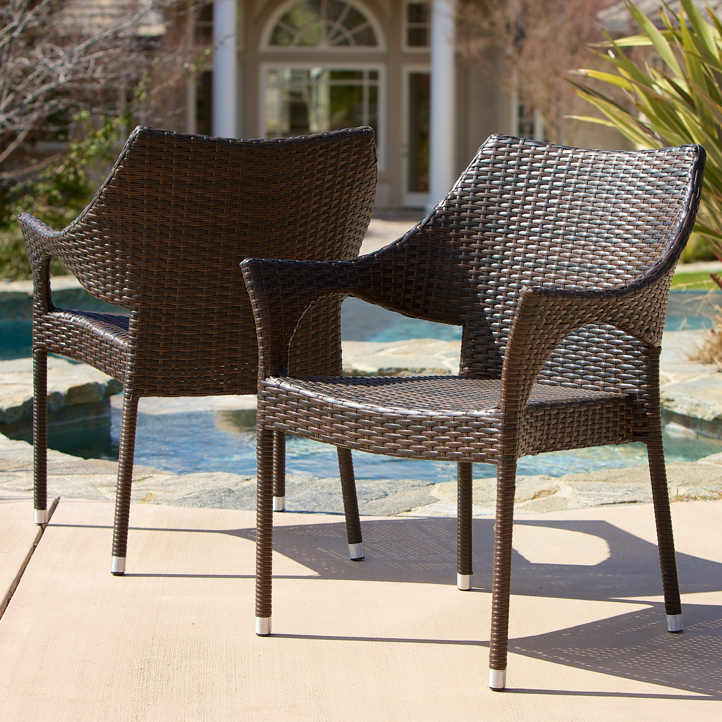 Marvelous Sinclair Outdoor 7 Piece Wicker Dining Set By Christopher Knight Home    Free Shipping Today   Overstock.com   17281597