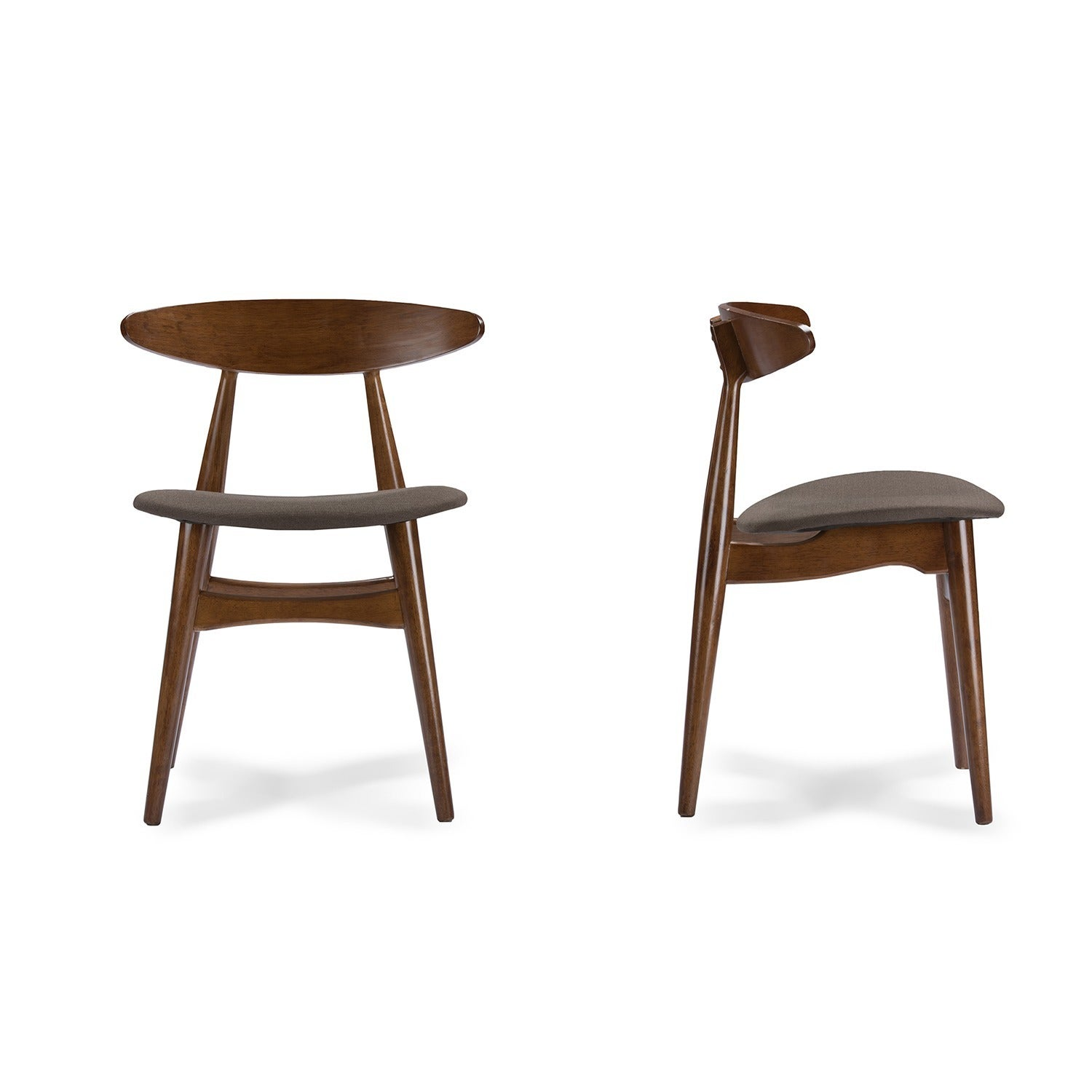 Set Of 2 Flamingo Mid Century Solid Wood Dining Chairs   Free Shipping  Today   Overstock.com   17282105