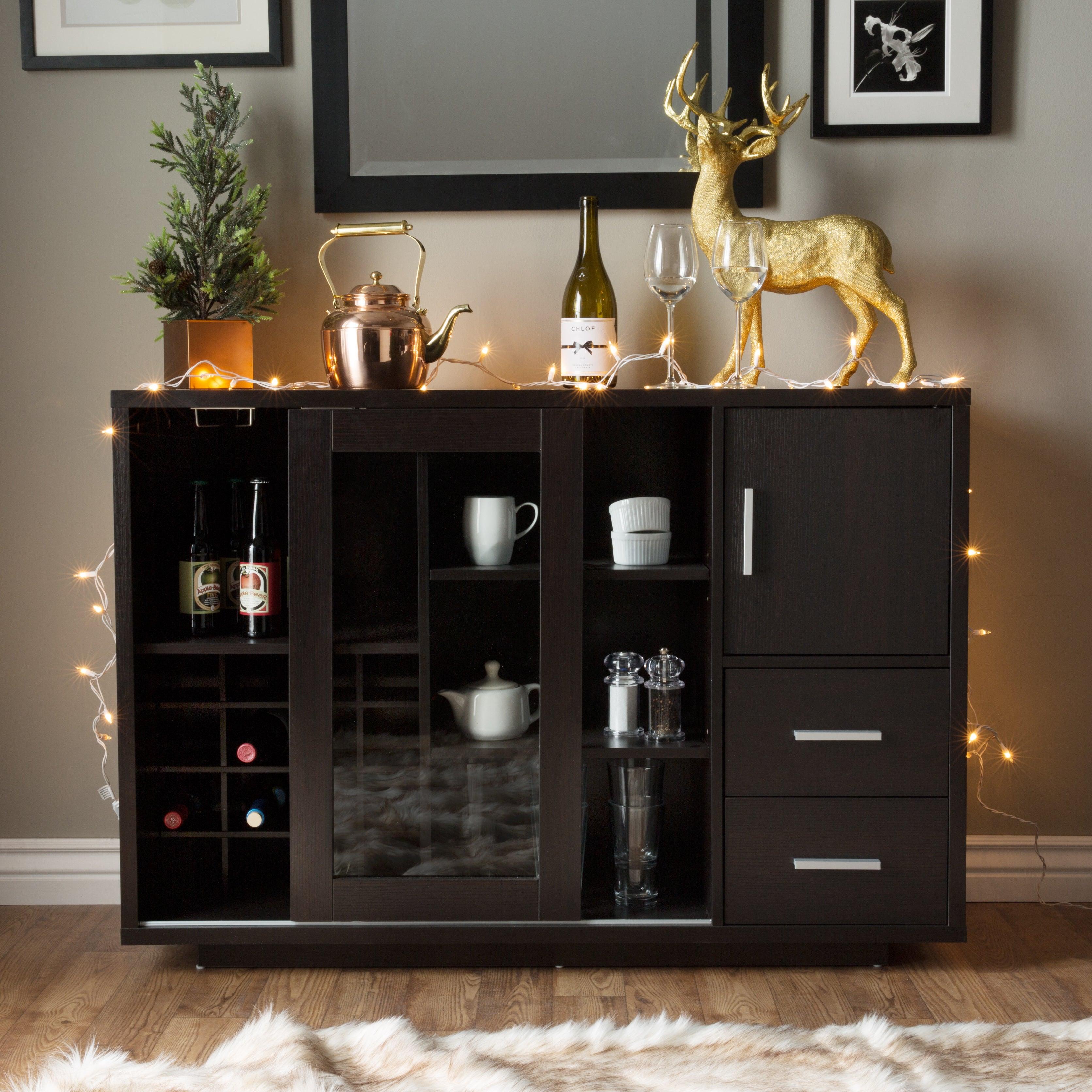 The Gray Barn Epona Modern Sliding Door Wine Bar Dining