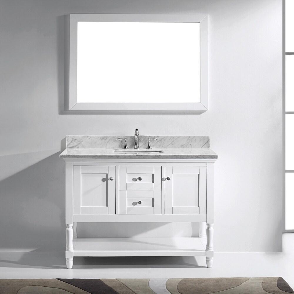 Shop Virtu USA Julianna 48-inch Italian Carrara White Marble Single ...