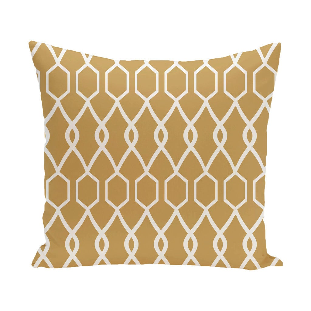 Decorative Outdoor Geometric Trellis Print 20-inch Pillow - Free ...
