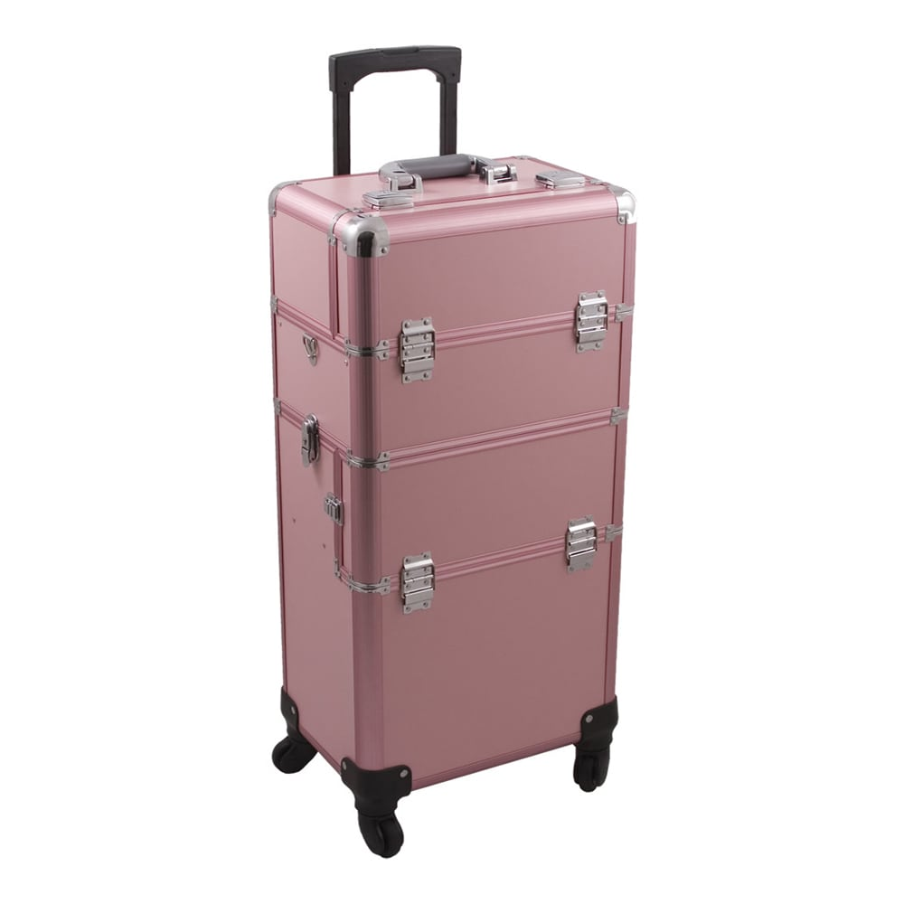 89b8bbc8393b Hiker 2-in-1 Rolling Makeup Case with Easy-Slide and Extendable Trays