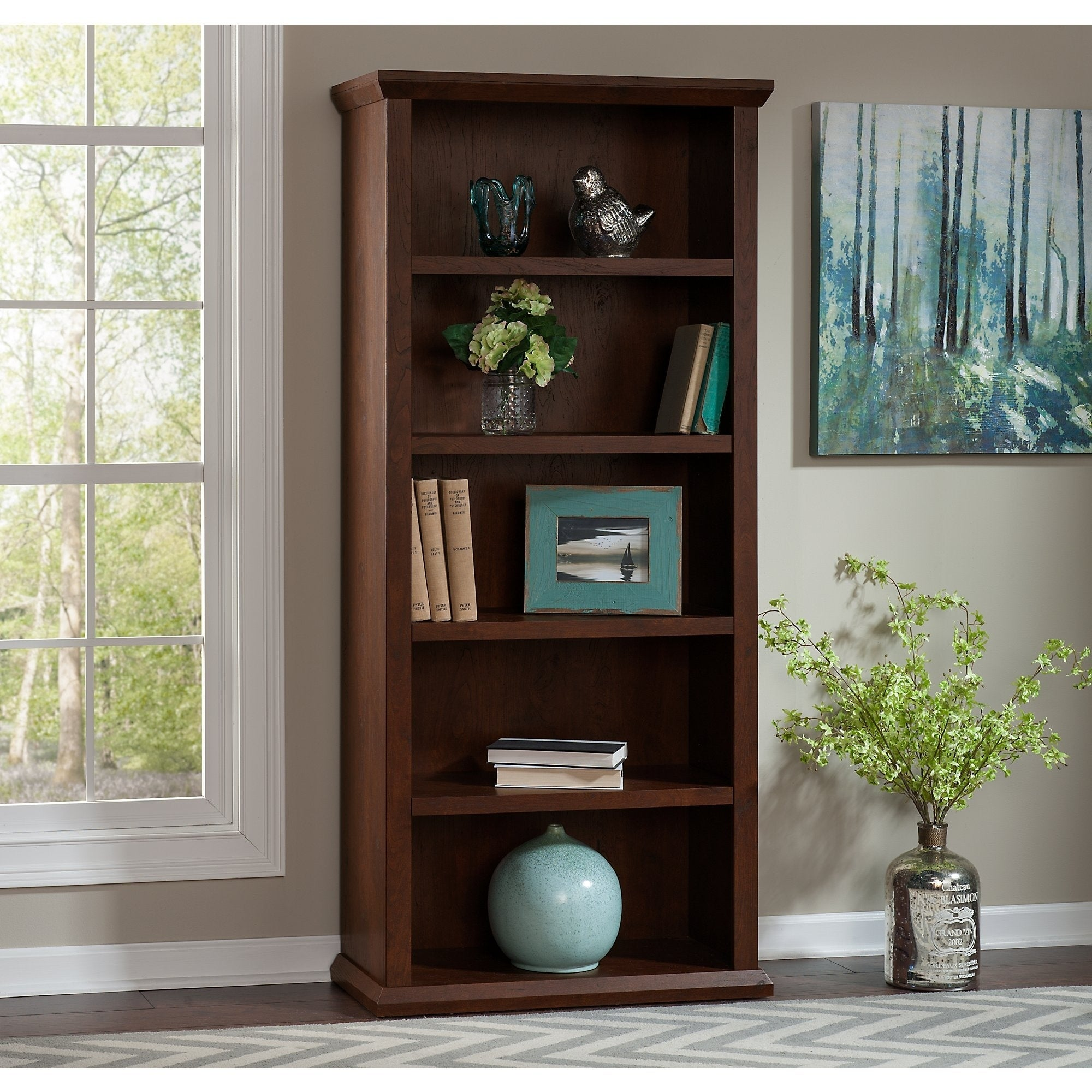 Bush Furniture Yorktown Bookcases In Antique Cherry Set Of Two Free Shipping Today 10156502