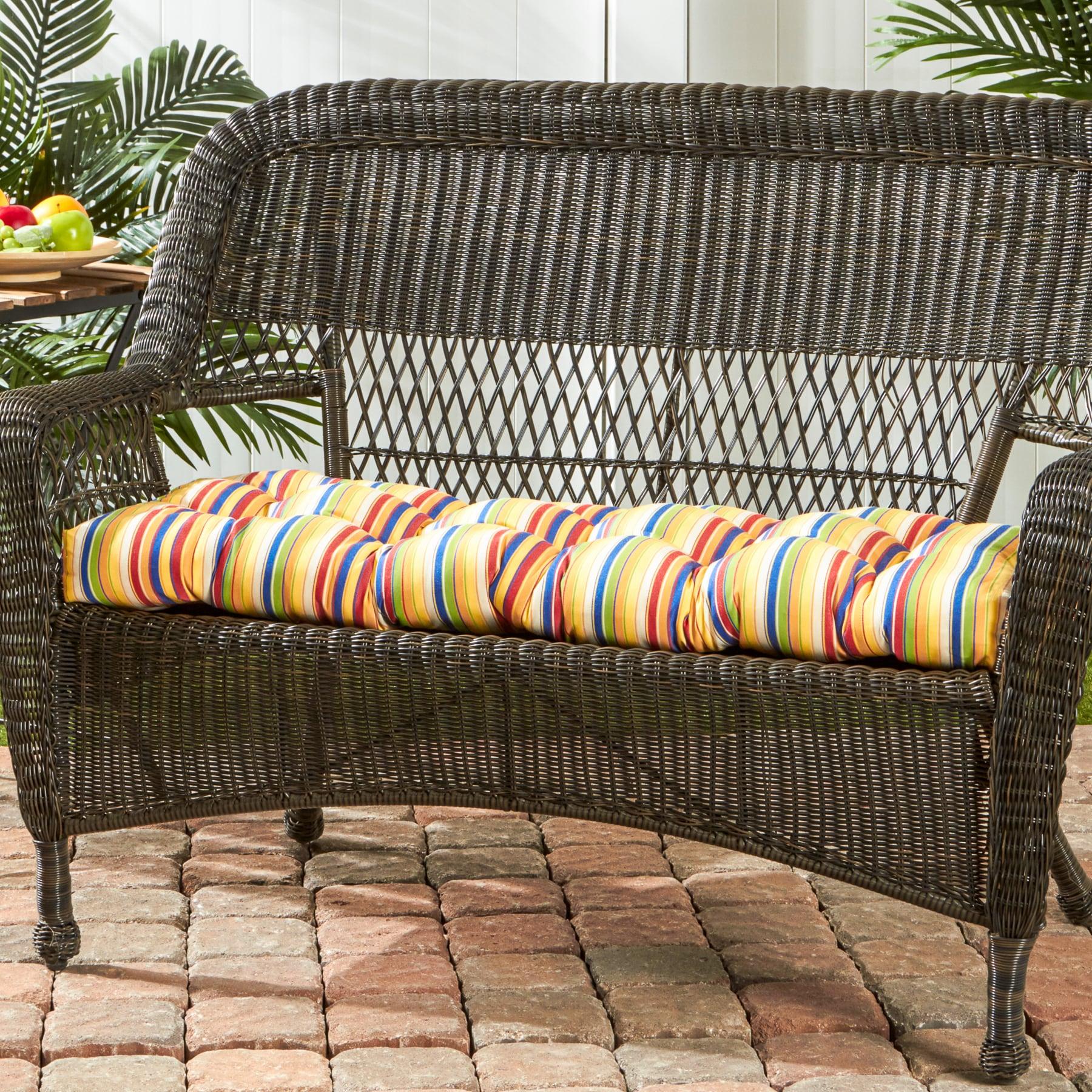 "46"" Sunbrella Outdoor Swing Bench Cushion Stripes Free Shipping"