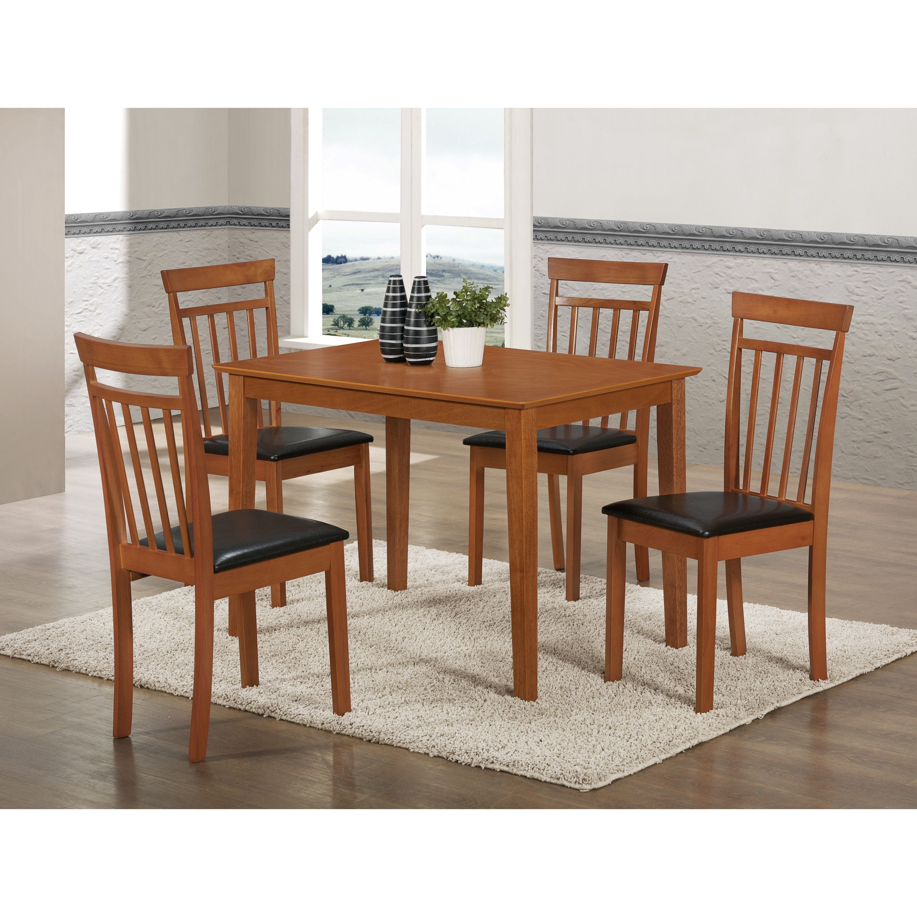 Light Cherry Wood Dining Table Free Shipping Today 10156939