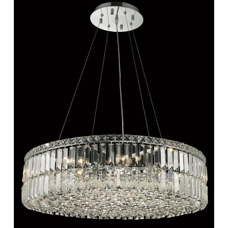 Elegant Lighting Chrome Royal Cut 28 Inch Crystal Clear Hanging 12 Light Chandelier Free Shipping Today 10159893