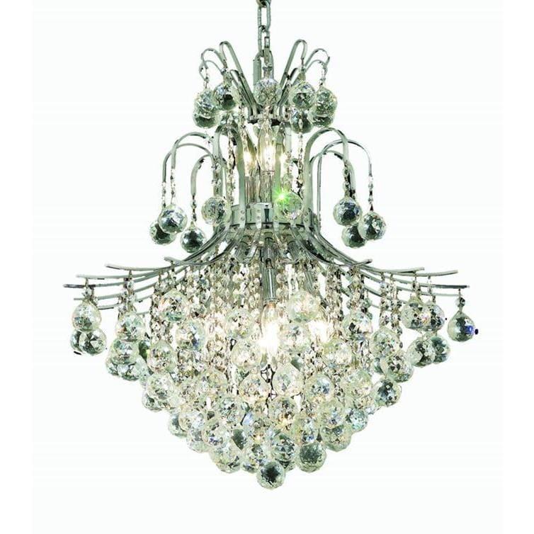Shop Elegant Lighting Chrome Royal-cut Crystal Clear 22-inch Hanging ...