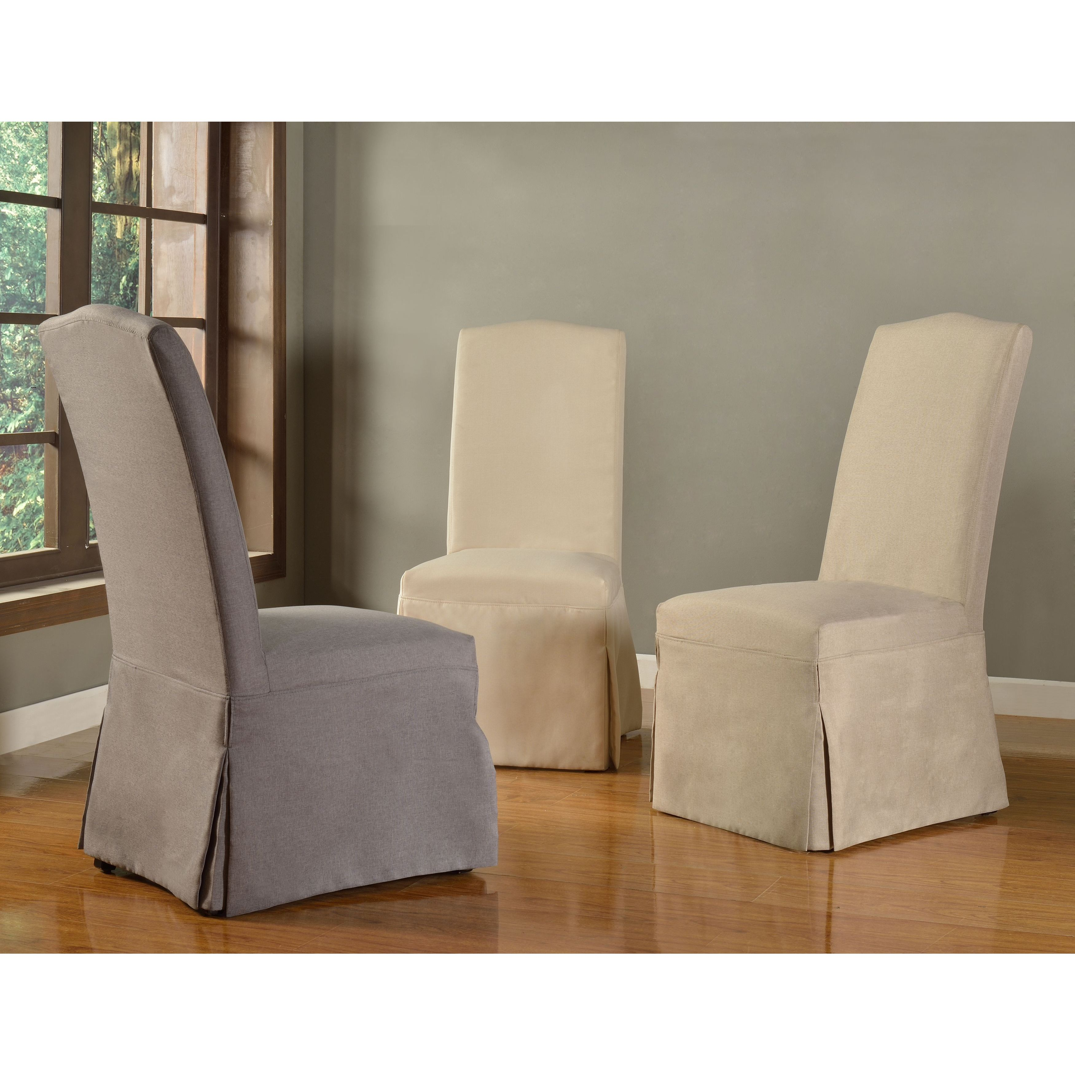Domusindo Slipcovered Camelback Dining Chair Set Of 2 Free Shipping Today 10160564