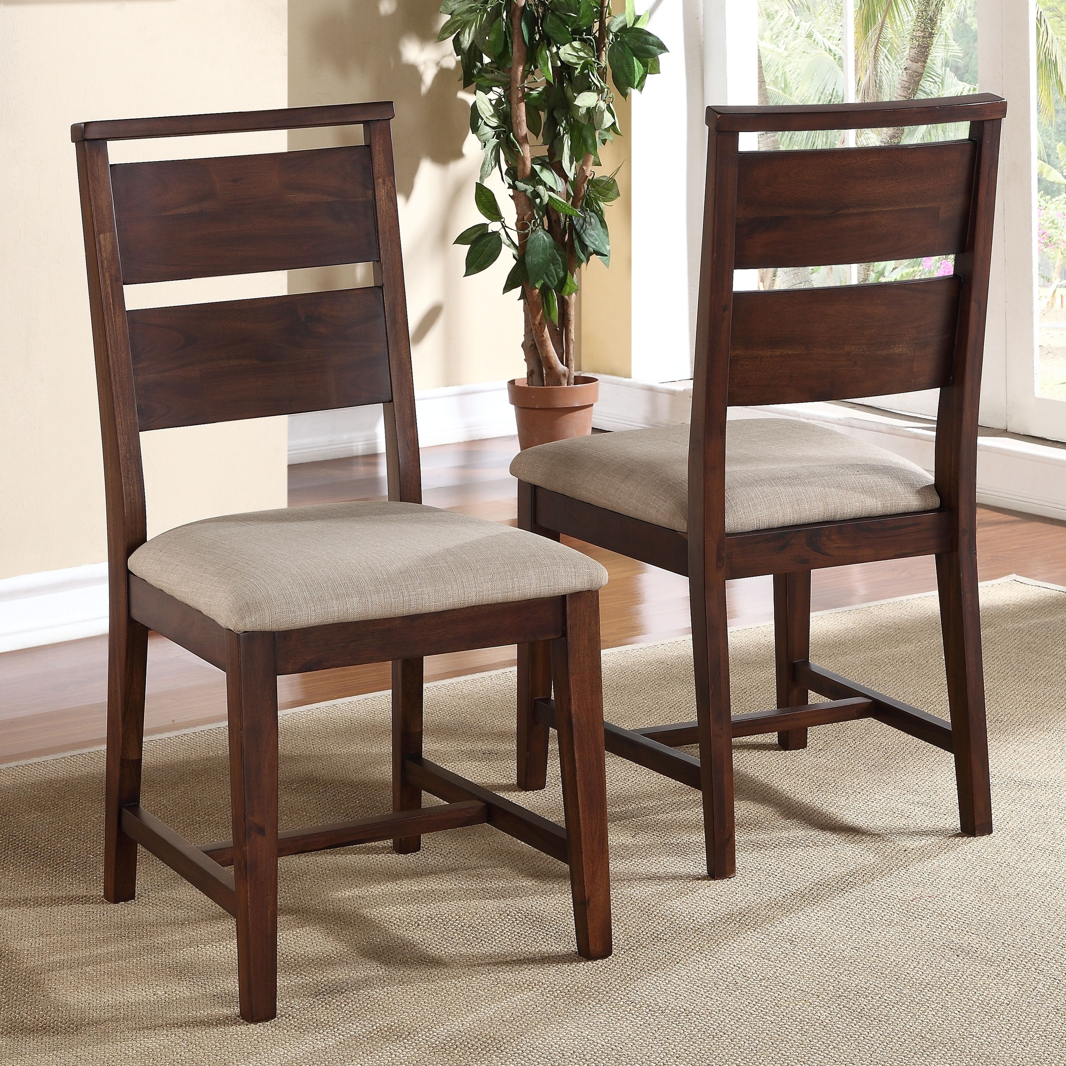Solid Wood Modern Dining Chair Set Of 2
