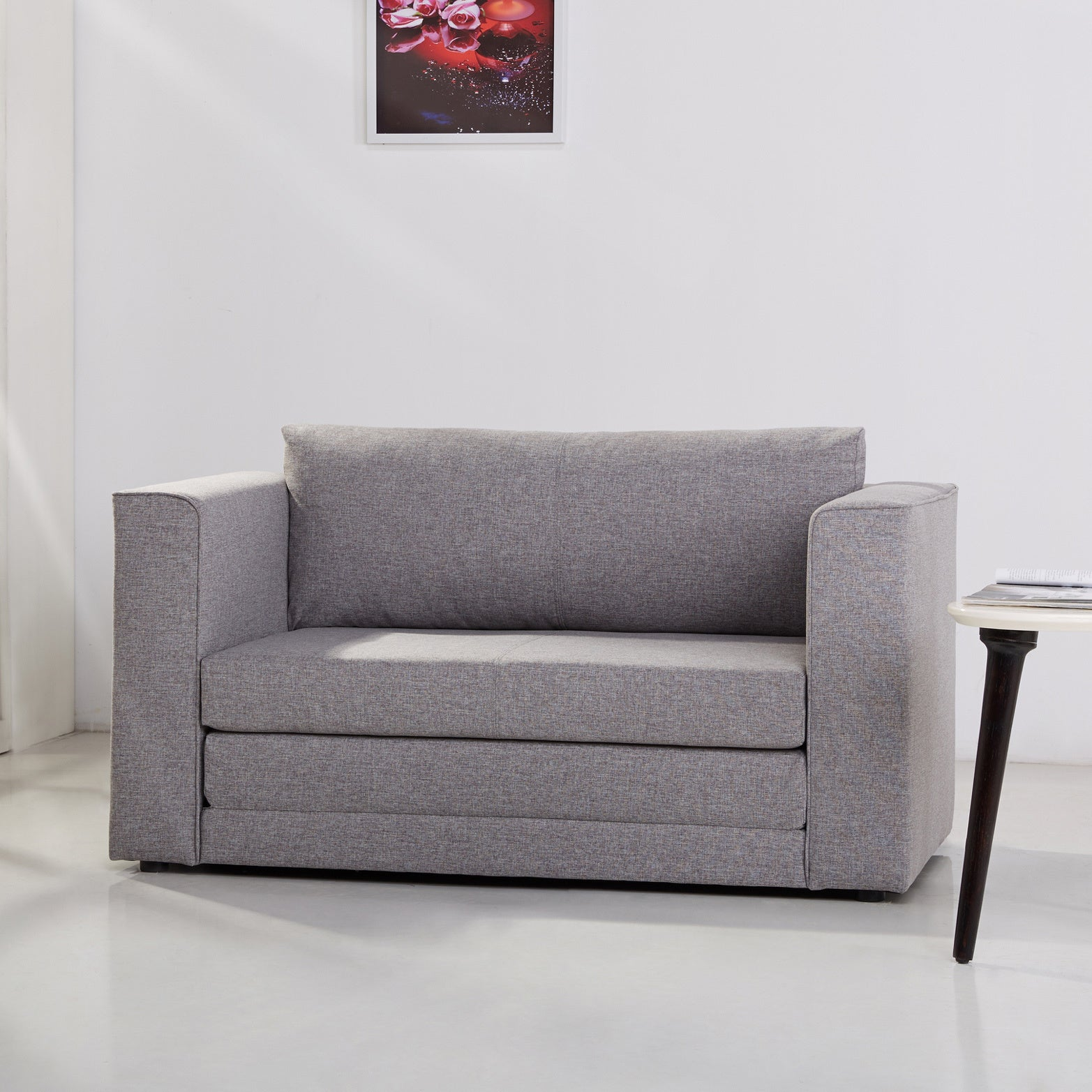 overstock shipping product gray free sleeper garden albany dark today home loveseat convertible