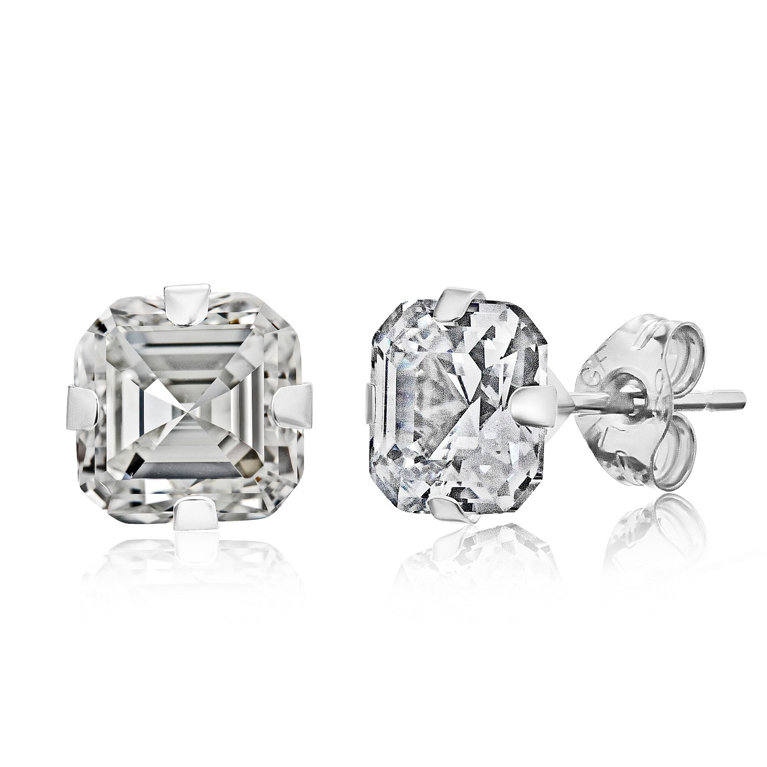 Pori 14k White Gold 6mm Cher Cut Cubic Zirconia Stud Earrings On Free Shipping Orders Over 45 10160850