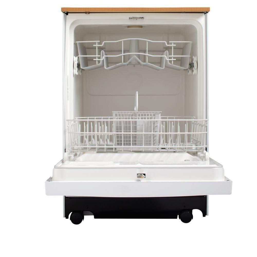 Shop GE 24 Inch GENGSC3500DWW Full Console Portable Dishwasher White   Free  Shipping Today   Overstock.com   10161345
