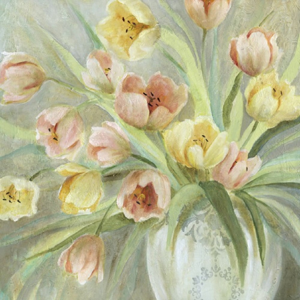 Portfolio Canvas Decor E. Franklin \'Tulip Blush\' Framed Canvas Wall ...