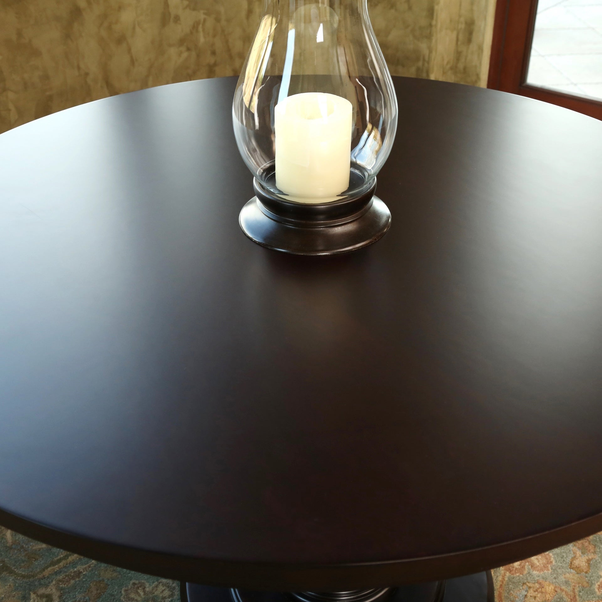 Abbyson Ibiza Round Wood Espresso Dining Table Free Shipping Today 10161840