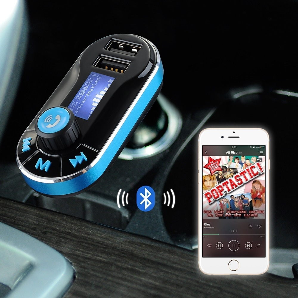 Shop Bluetooth Fm Transmitter Hands Free Car Kit For Mobile Devices Phones Shipping On Orders Over 45 10163032