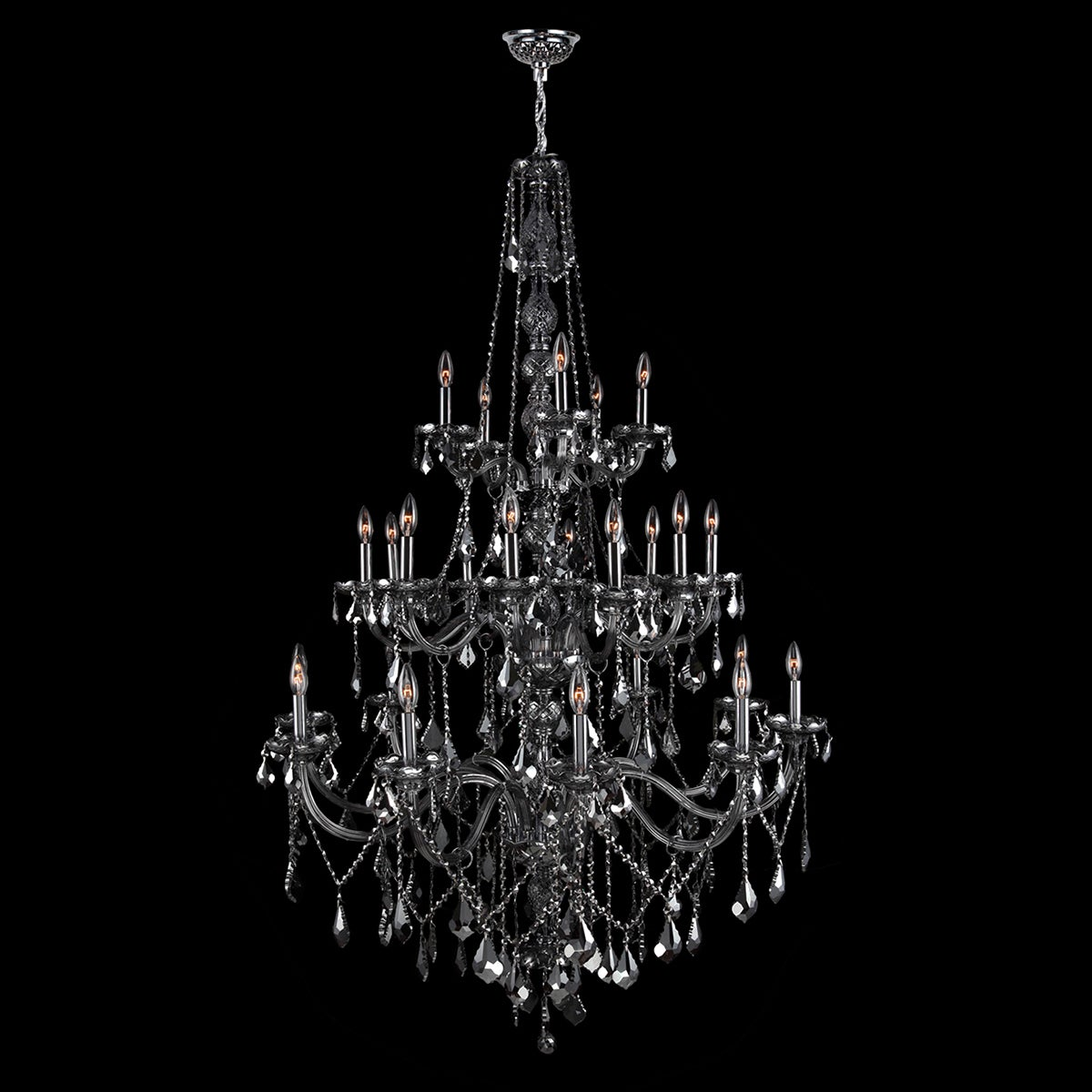 Provence collection 25 light chrome finish and smoke crystal provence collection 25 light chrome finish and smoke crystal chandelier free shipping today overstock 17291901 mozeypictures Choice Image