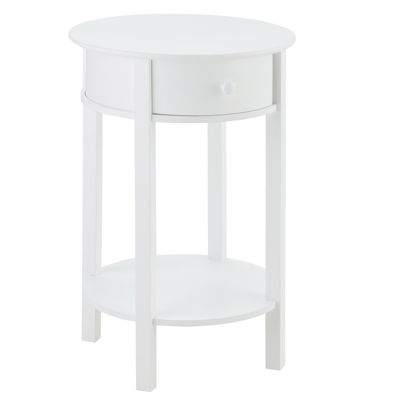 white round end table. Shop Avenue Greene Adams White Wood Round End Table - On Sale Free Shipping Today Overstock.com 20186929